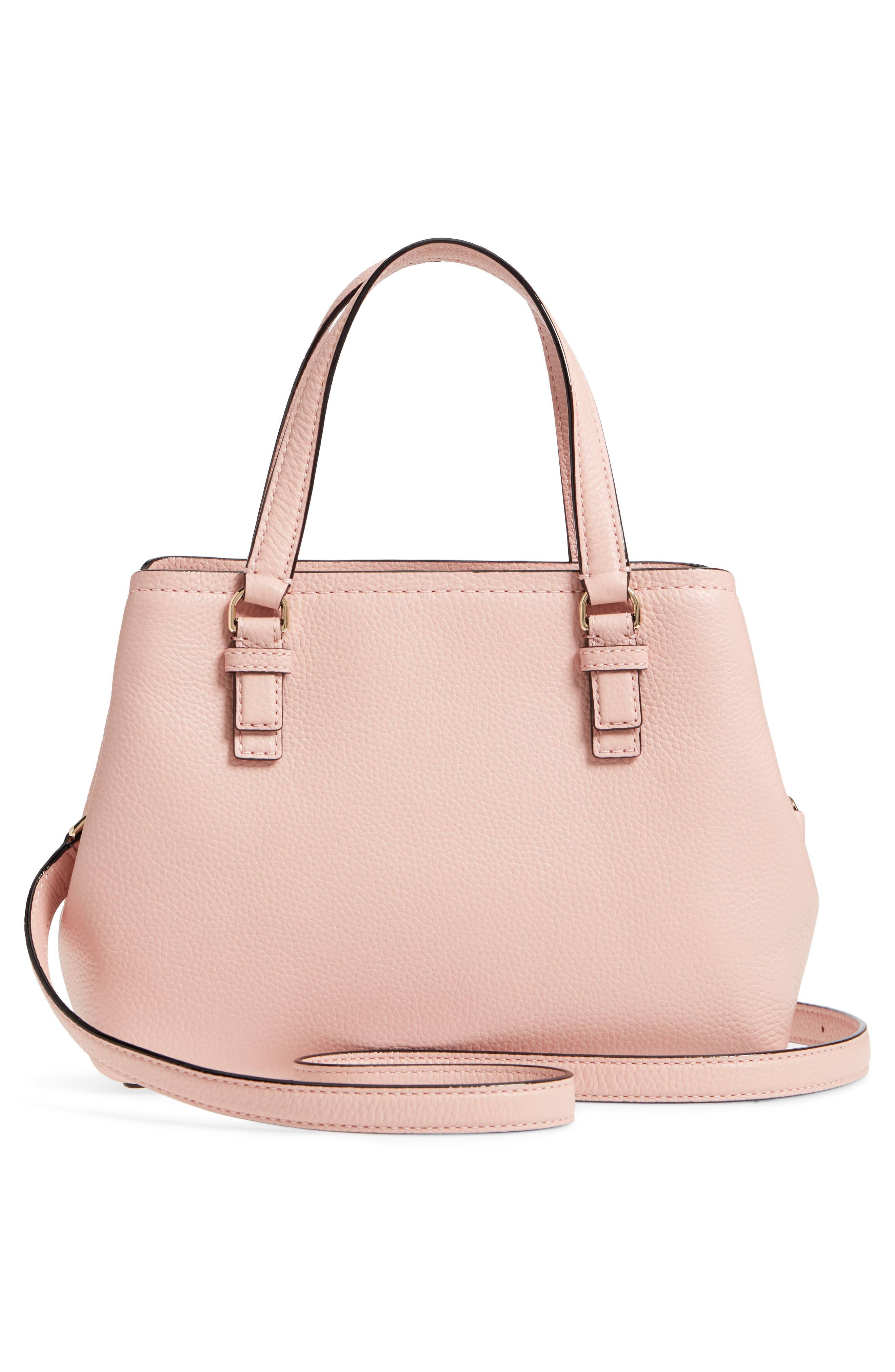 jackson street – small octavia leather satchel,                             Alternate thumbnail 3, color,                             Rosy Cheeks