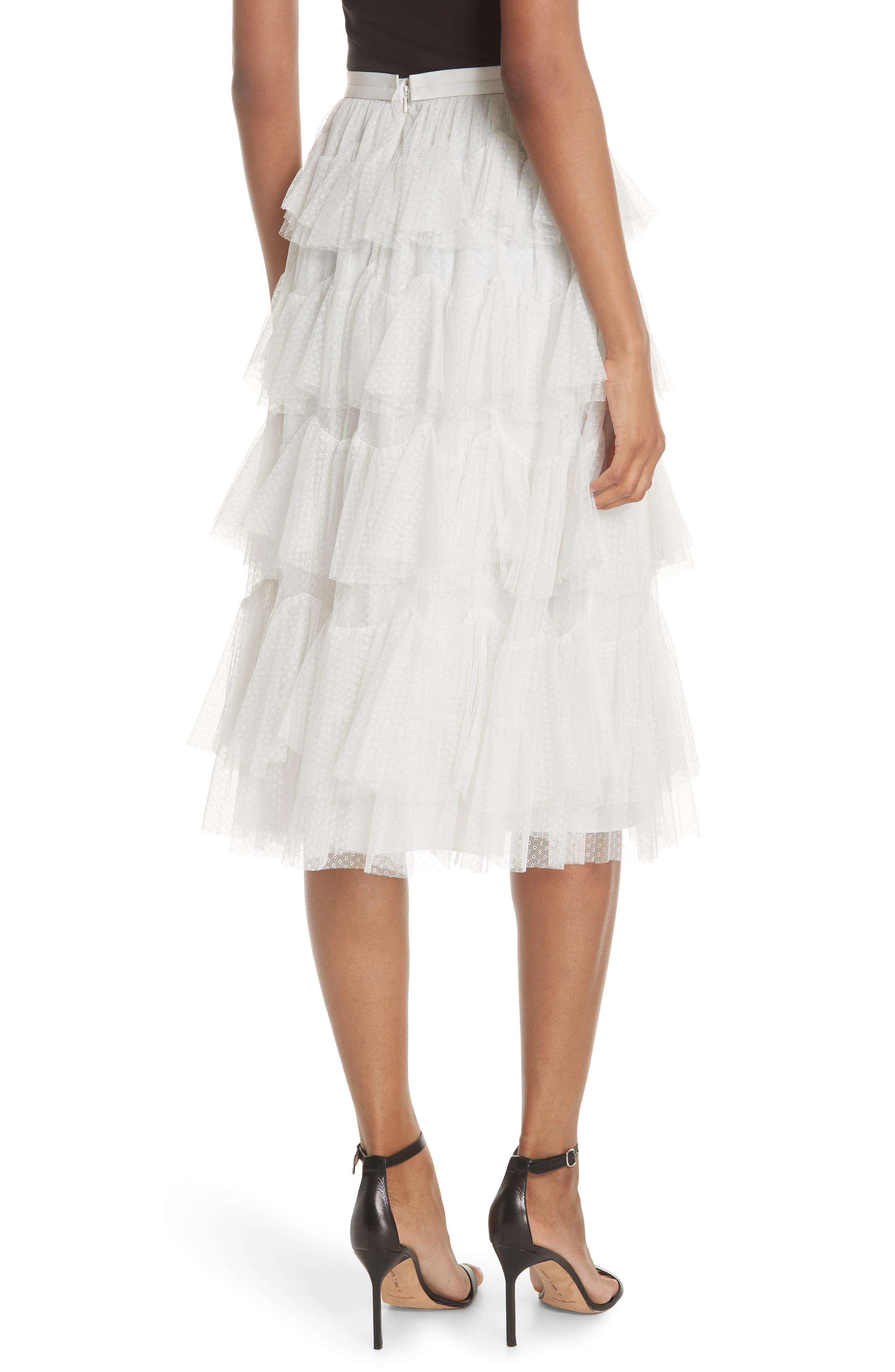 Tiered Tulle Skirt,                             Alternate thumbnail 2, color,                             Pearl