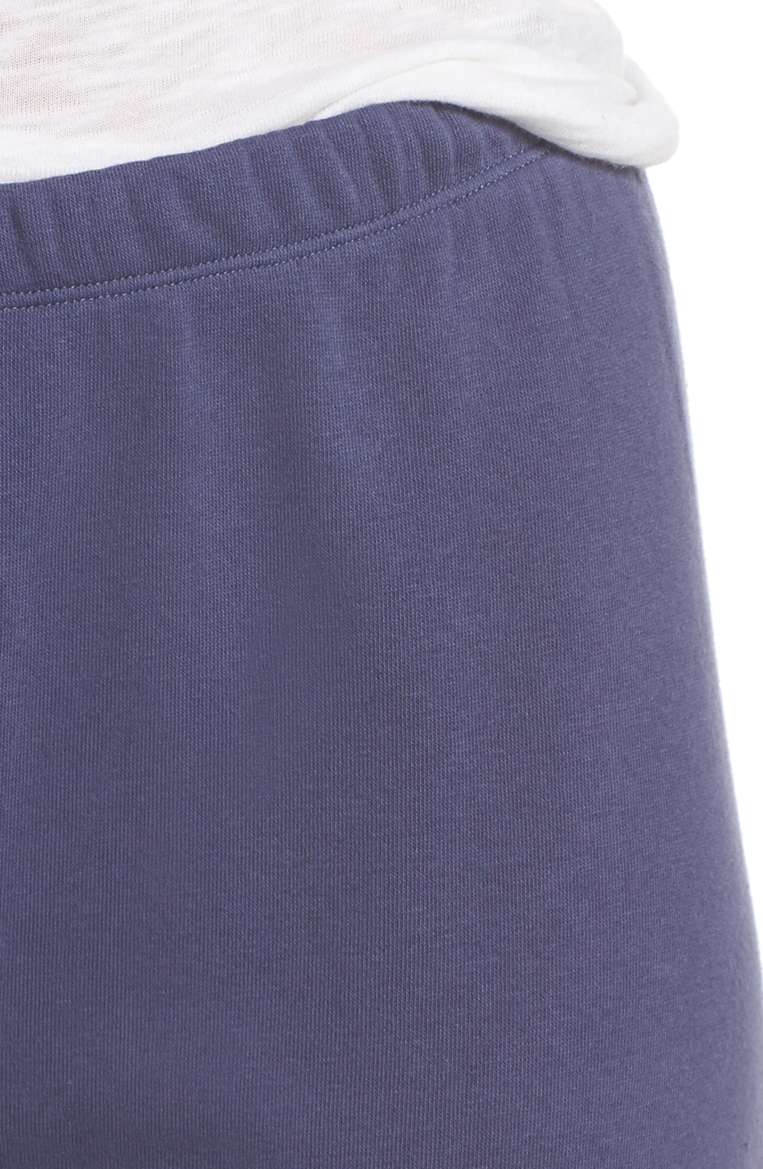 Sleepy High Rise Lounge Jogger Pants,                             Alternate thumbnail 5, color,                             Blue Indigo