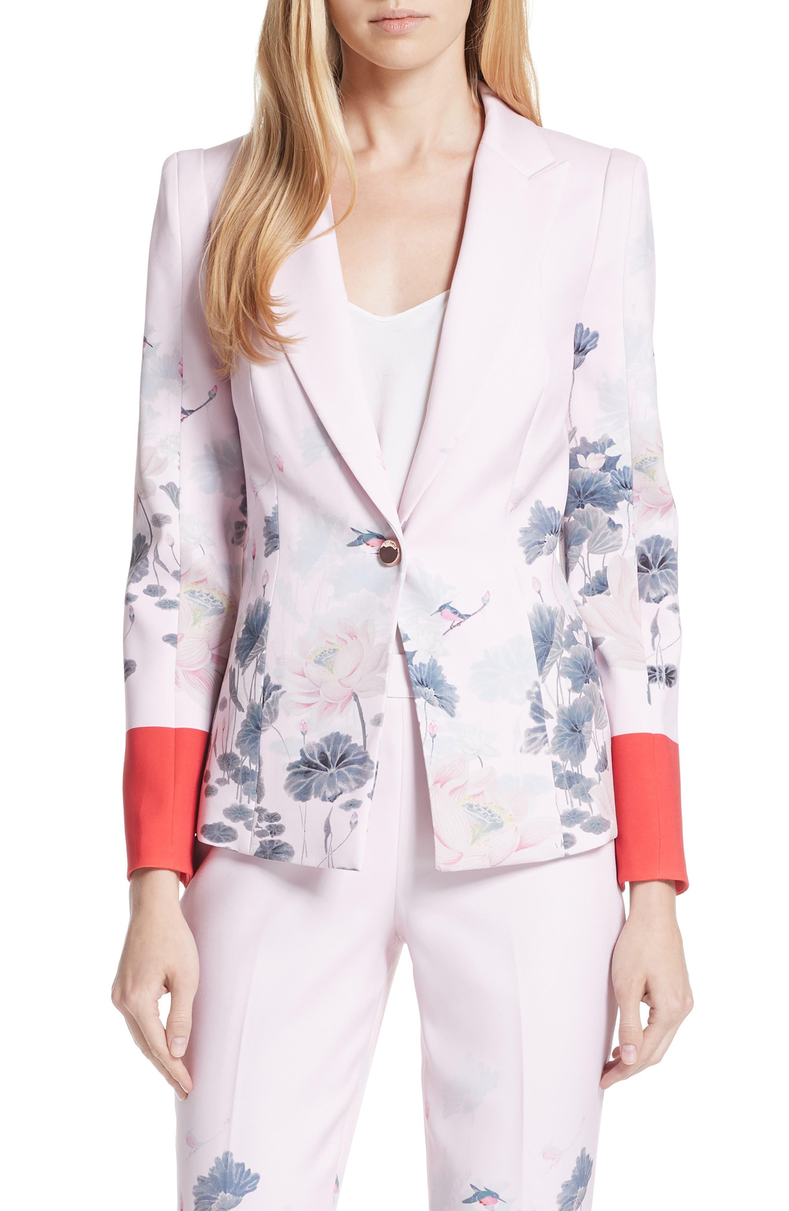 Naimh Lake of Dreams Tailored Jacket,                             Main thumbnail 1, color,                             Pink