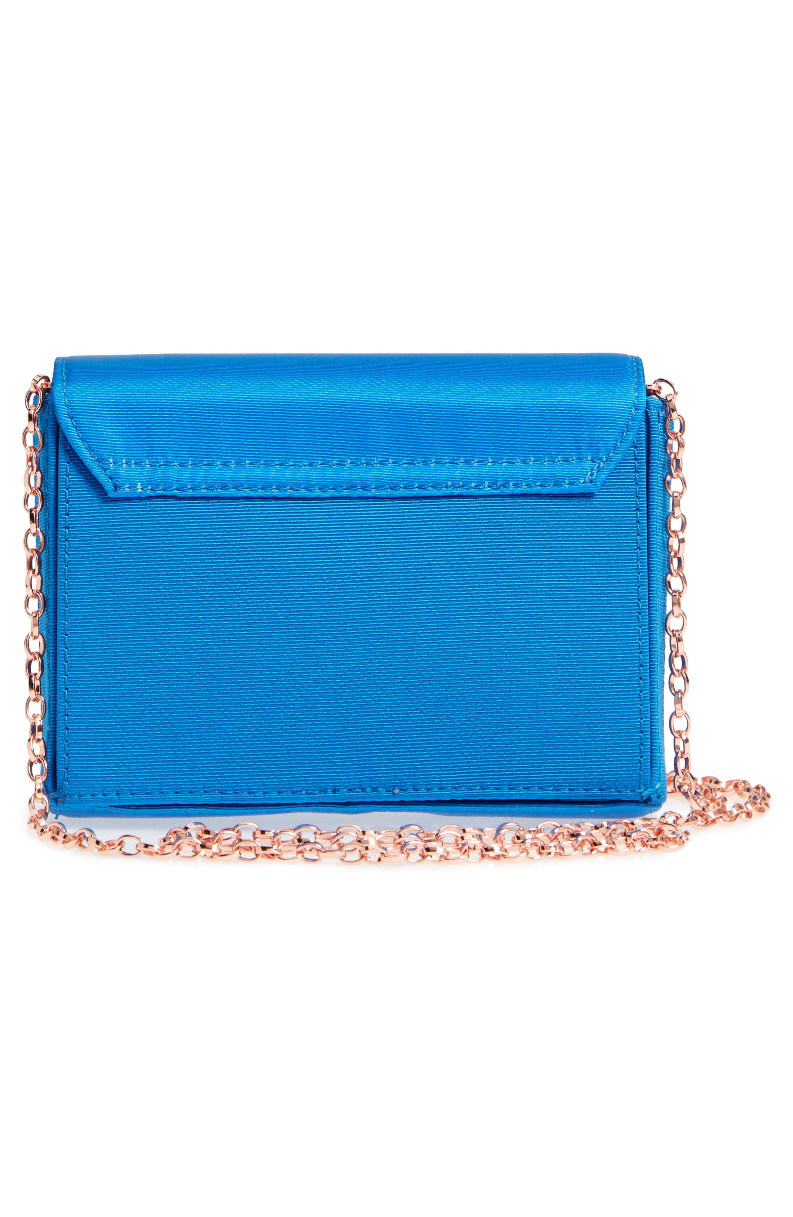 Harmony Print Evening Bag,                             Alternate thumbnail 3, color,                             Bright Blue
