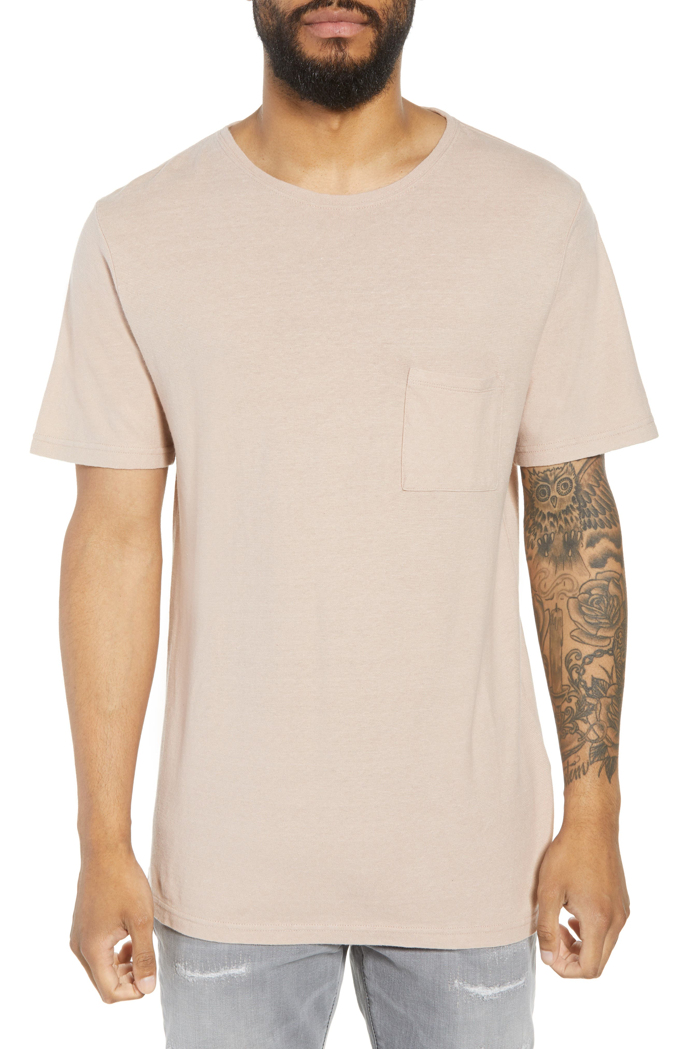 Collett Gauze T-Shirt,                             Main thumbnail 1, color,                             Dusty Rose