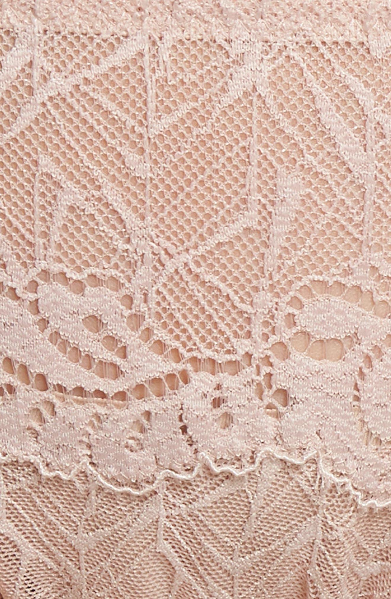 Vivid Encounter Lace Bikini,                             Alternate thumbnail 8, color,                             Rose Dust