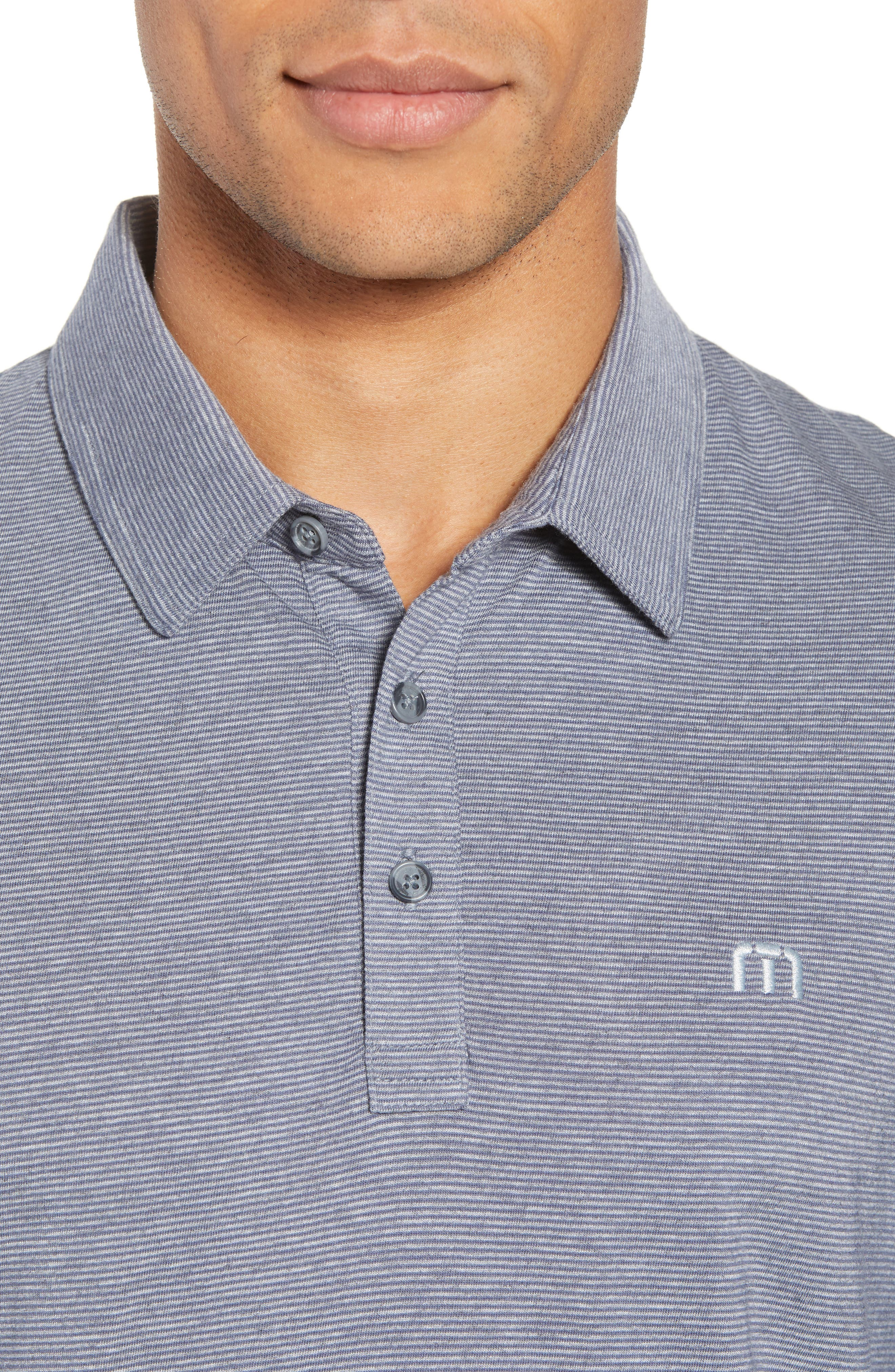JQ Regular Fit Stripe Polo,                             Alternate thumbnail 4, color,                             Heather Grisaille