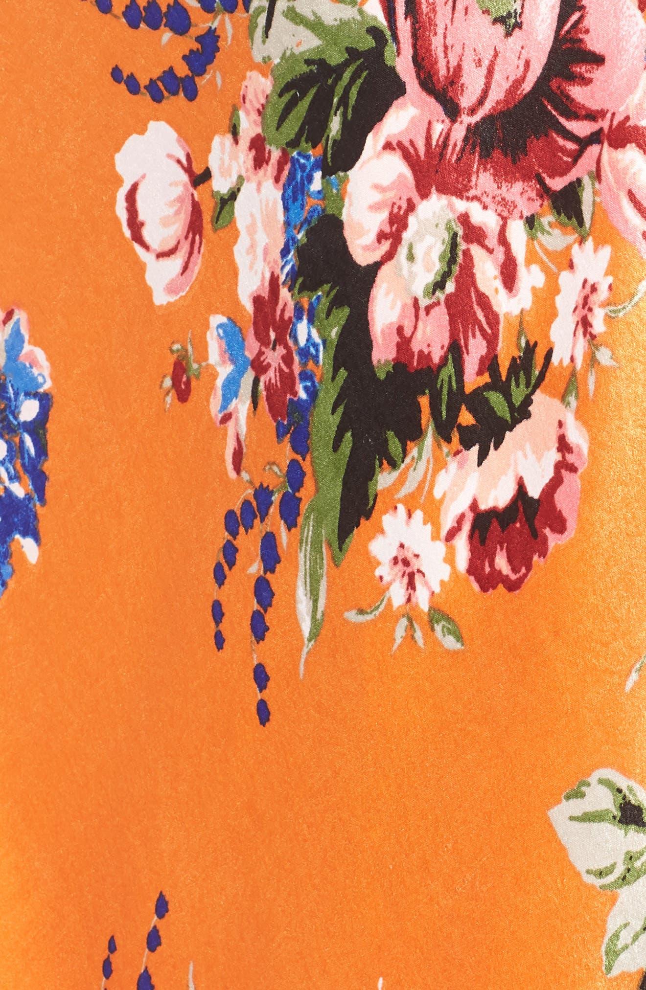 Zoey Satin Wrap Skirt,                             Alternate thumbnail 3, color,                             Orange Rose