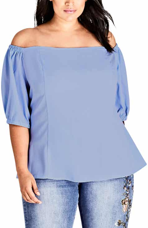 a4d4bf2d0885 City Chic Summer Fling Off-Shoulder Top (Plus Size)