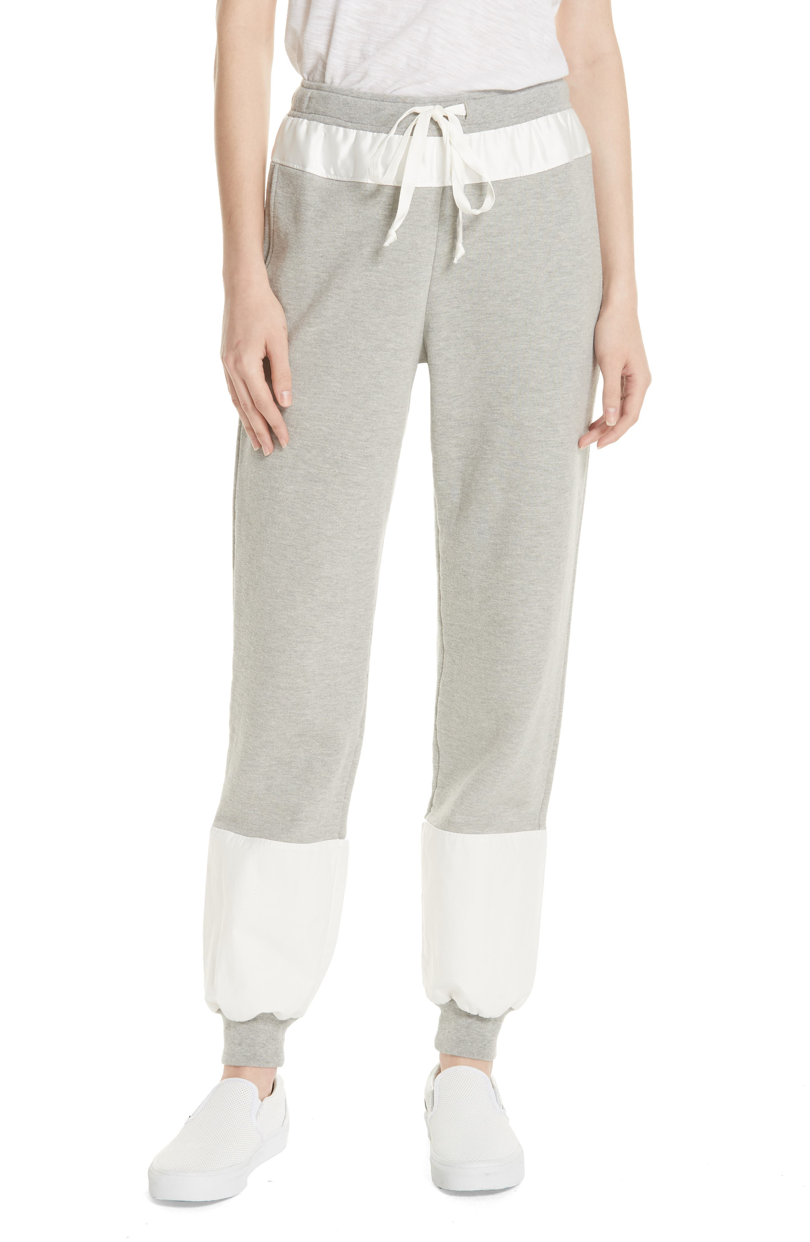 Colorblock Track Pants,                         Main,                         color, Heather Grey