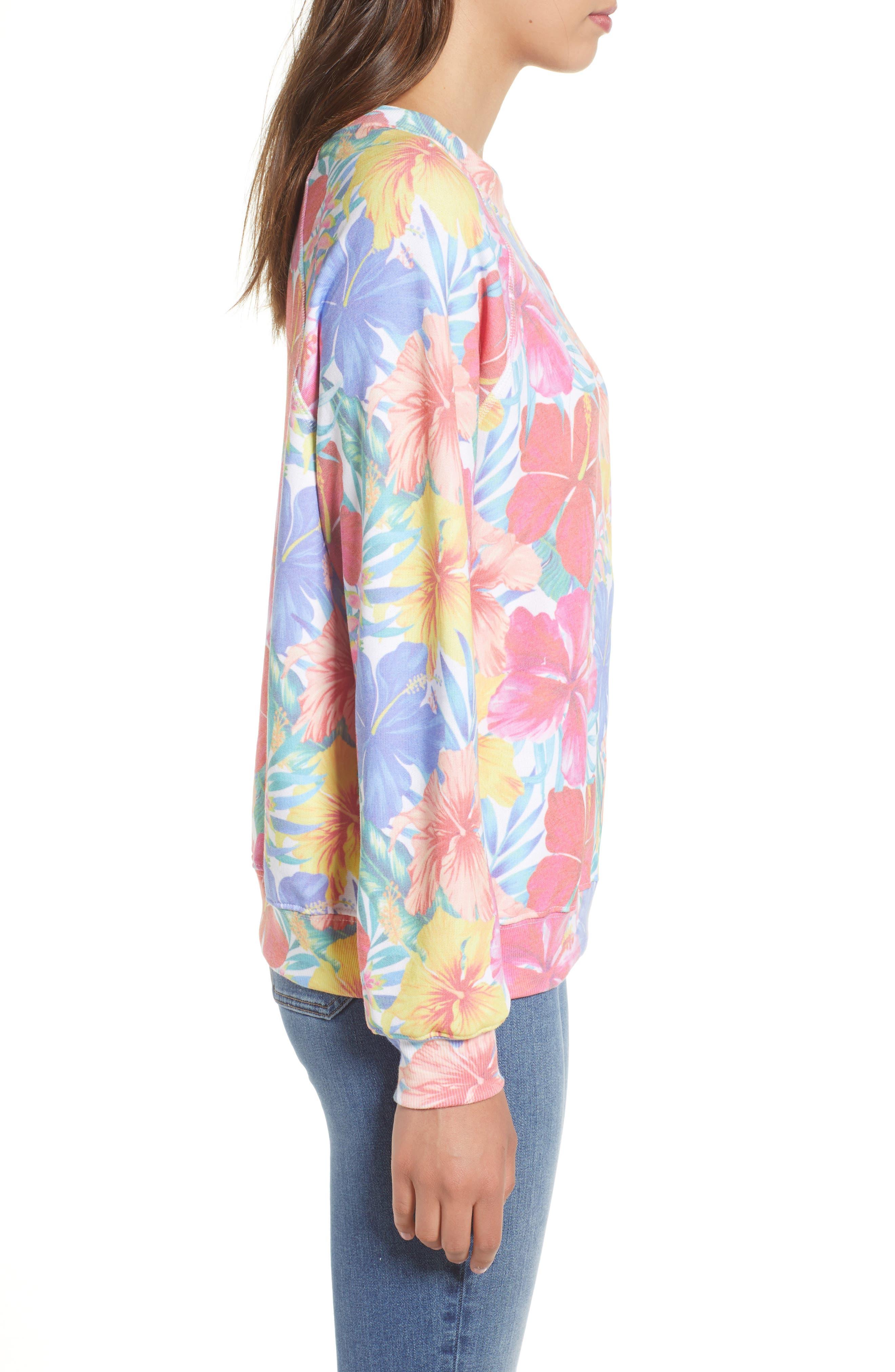 Tropicalia Sommers Sweatshirt,                             Alternate thumbnail 3, color,                             Multi Colored