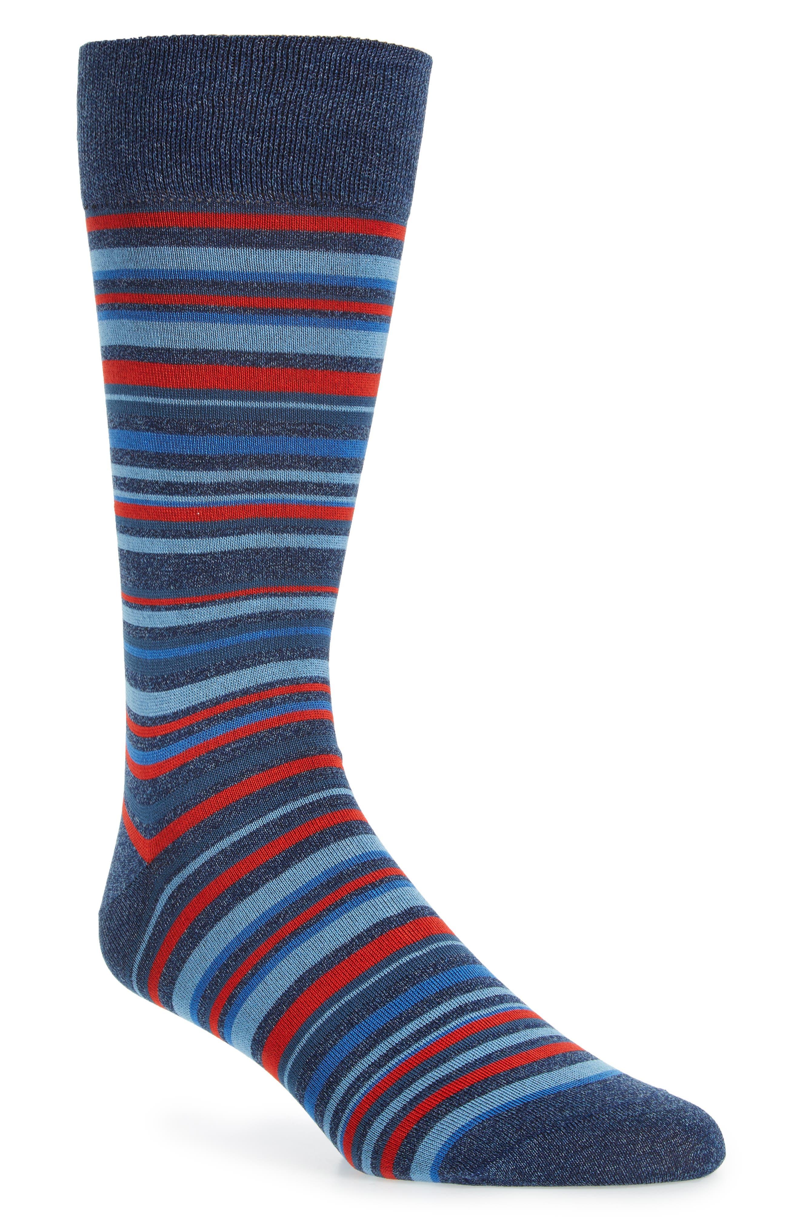 Cotton Blend Socks,                             Main thumbnail 1, color,                             Denim