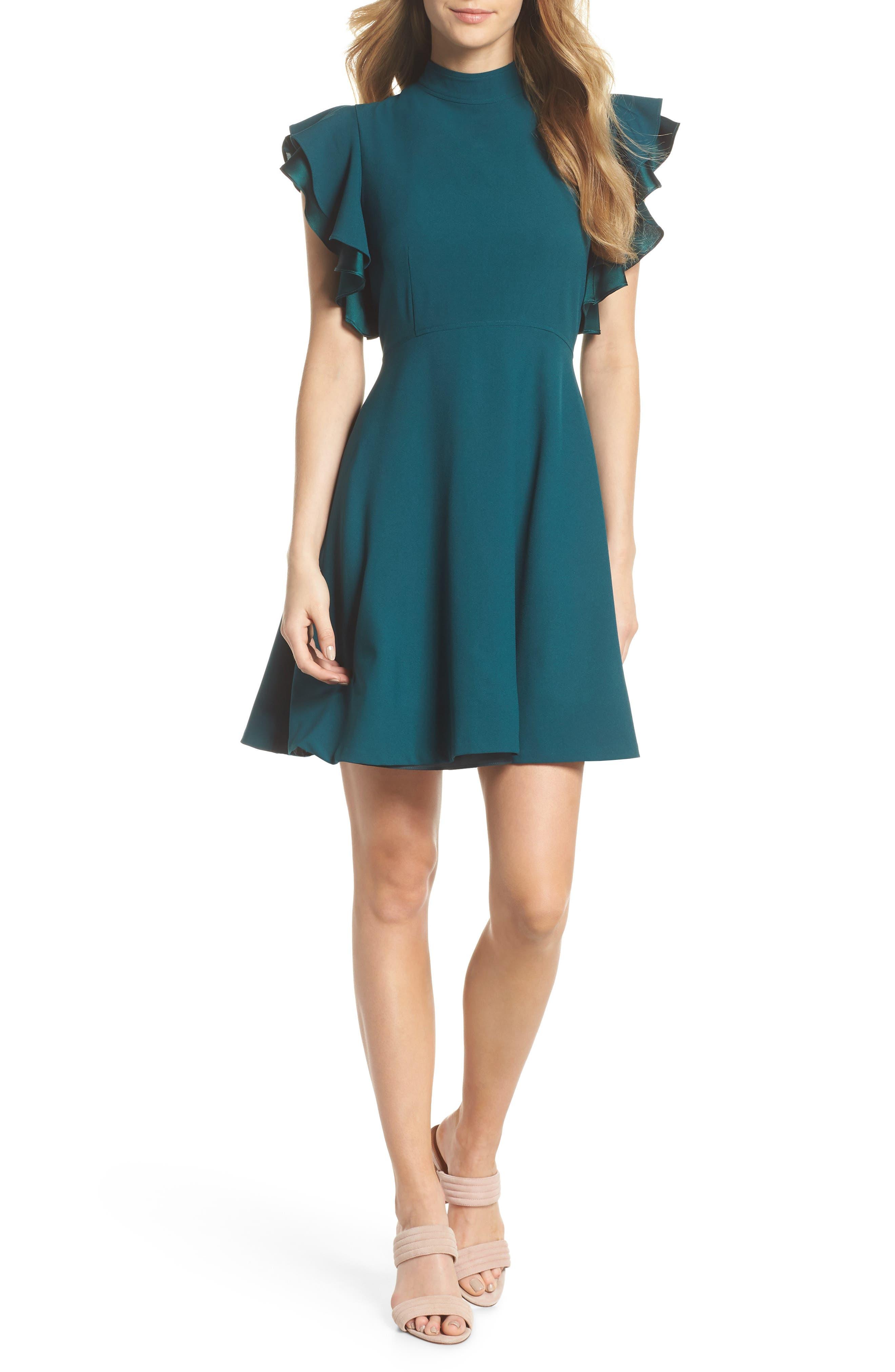 Chelsea28 Crepe Fit \u0026 Flare Dress (Regular, Plus \u0026 Petite)