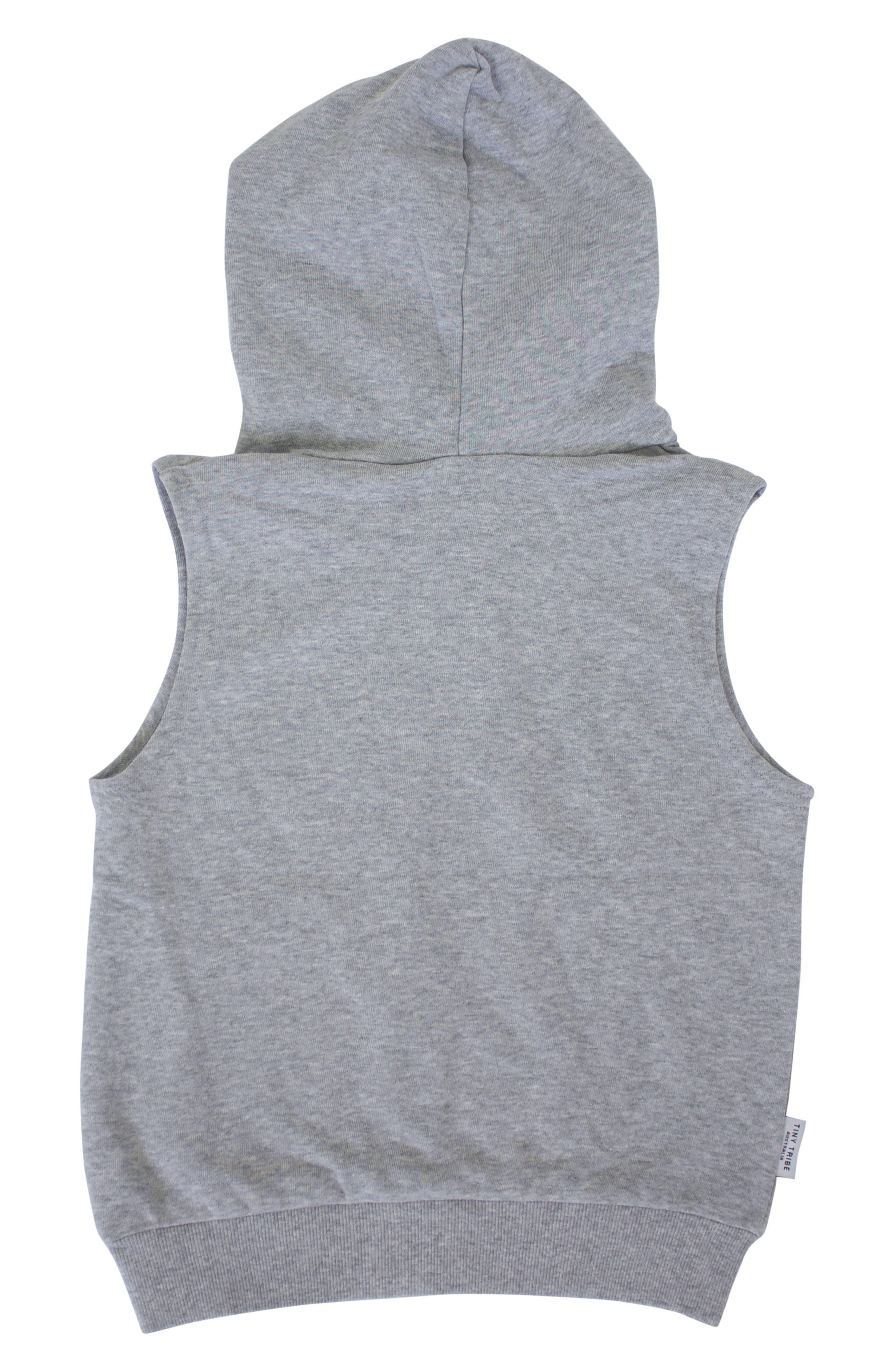 Electric Bat Hooded Vest,                             Alternate thumbnail 2, color,                             Grey