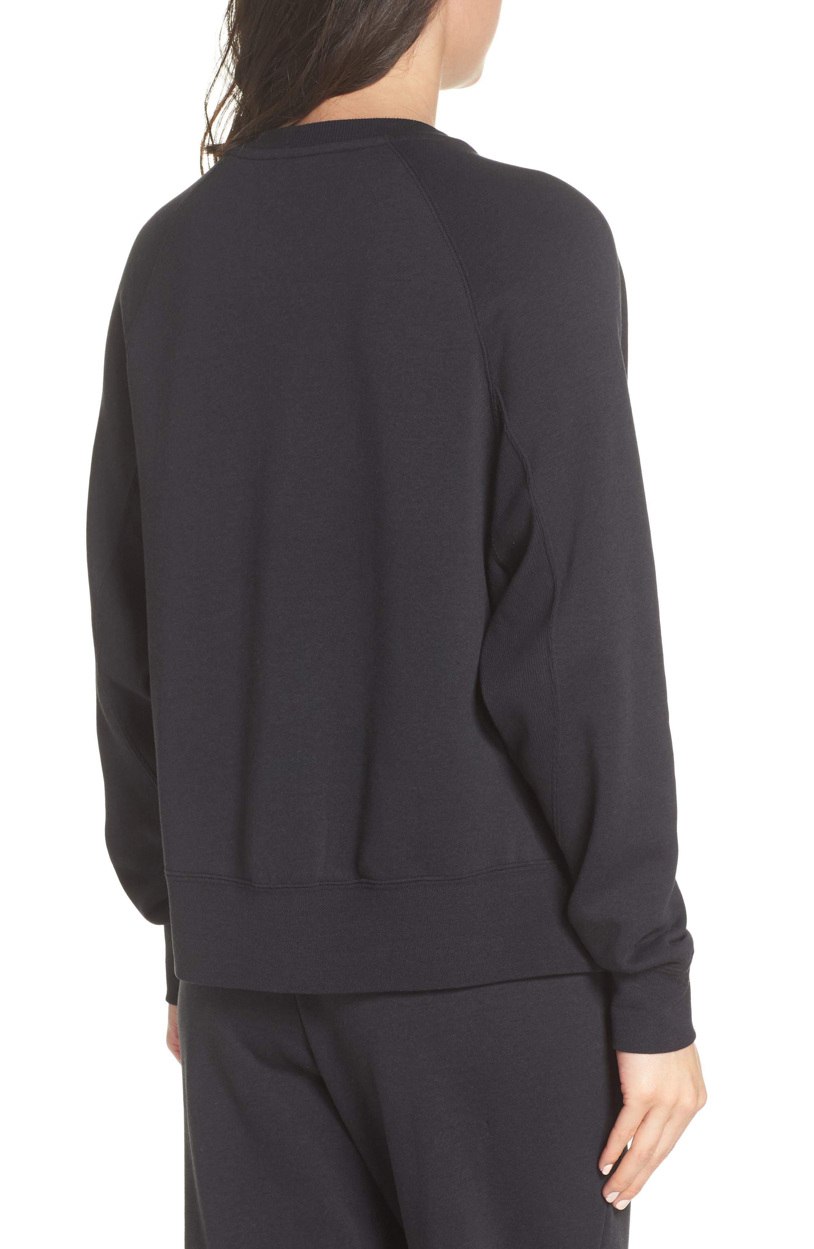 Sportswear Rally Sweatshirt,                             Alternate thumbnail 2, color,                             Black/ White