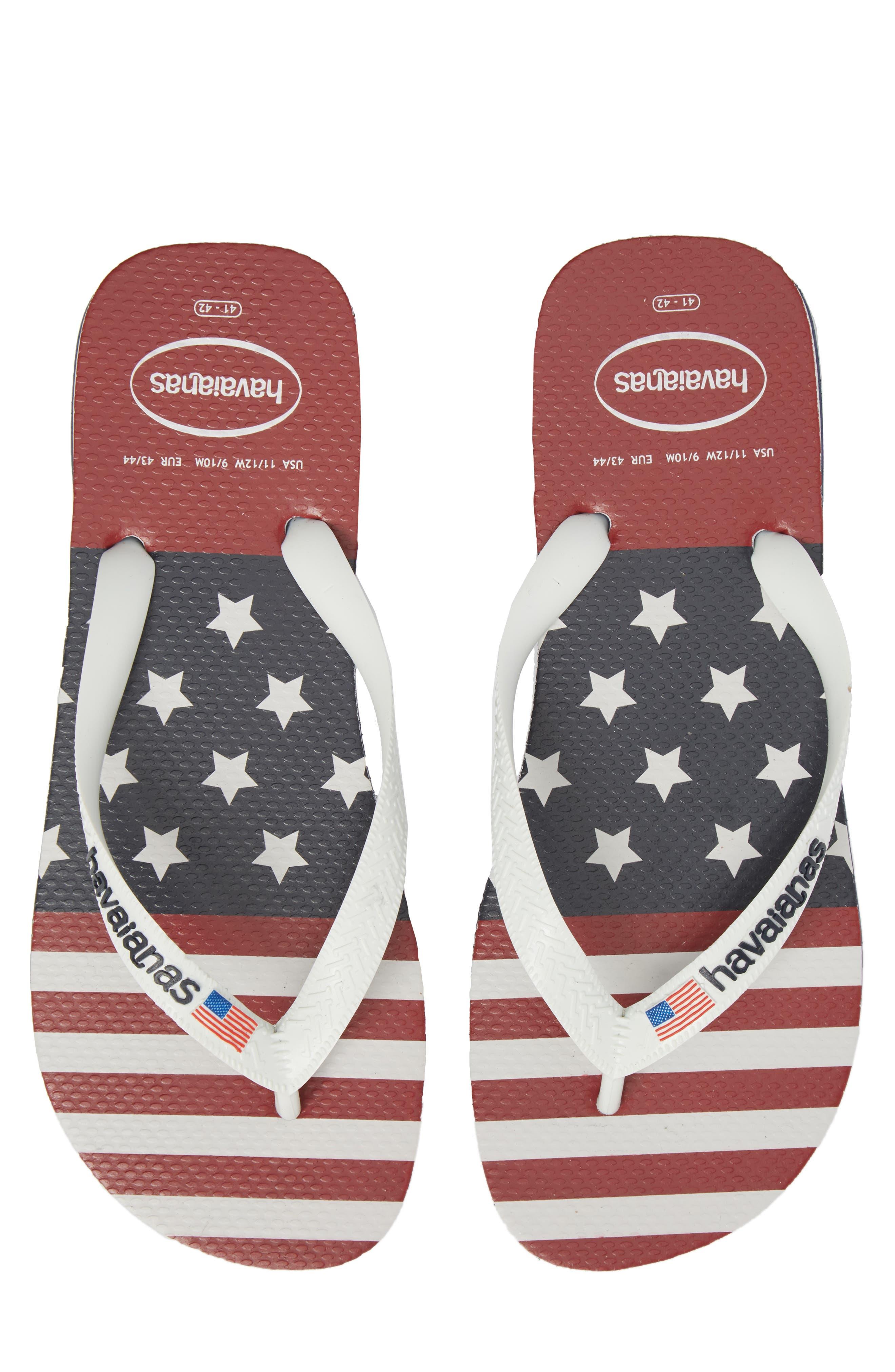 USA Stars & Stripes Flip Flop,                             Main thumbnail 1, color,                             Navy Blue