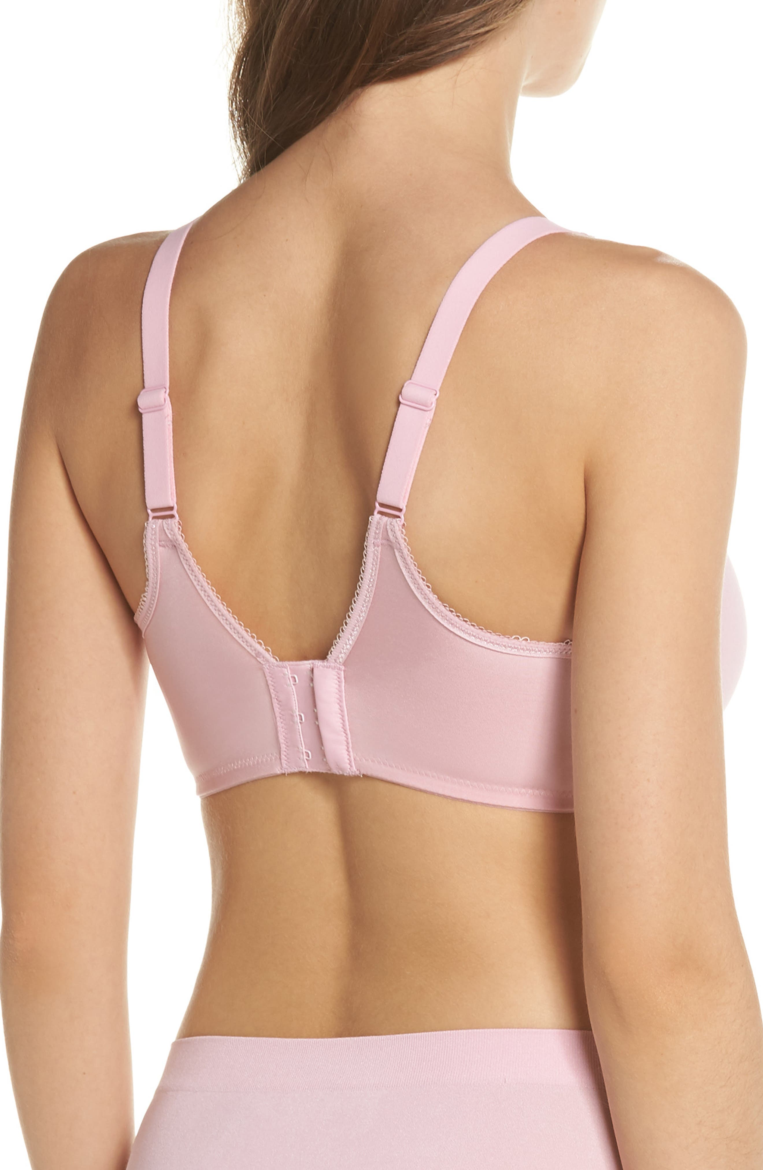 Basic Beauty Underwire Contour Bra,                             Alternate thumbnail 2, color,                             Cameo Pink