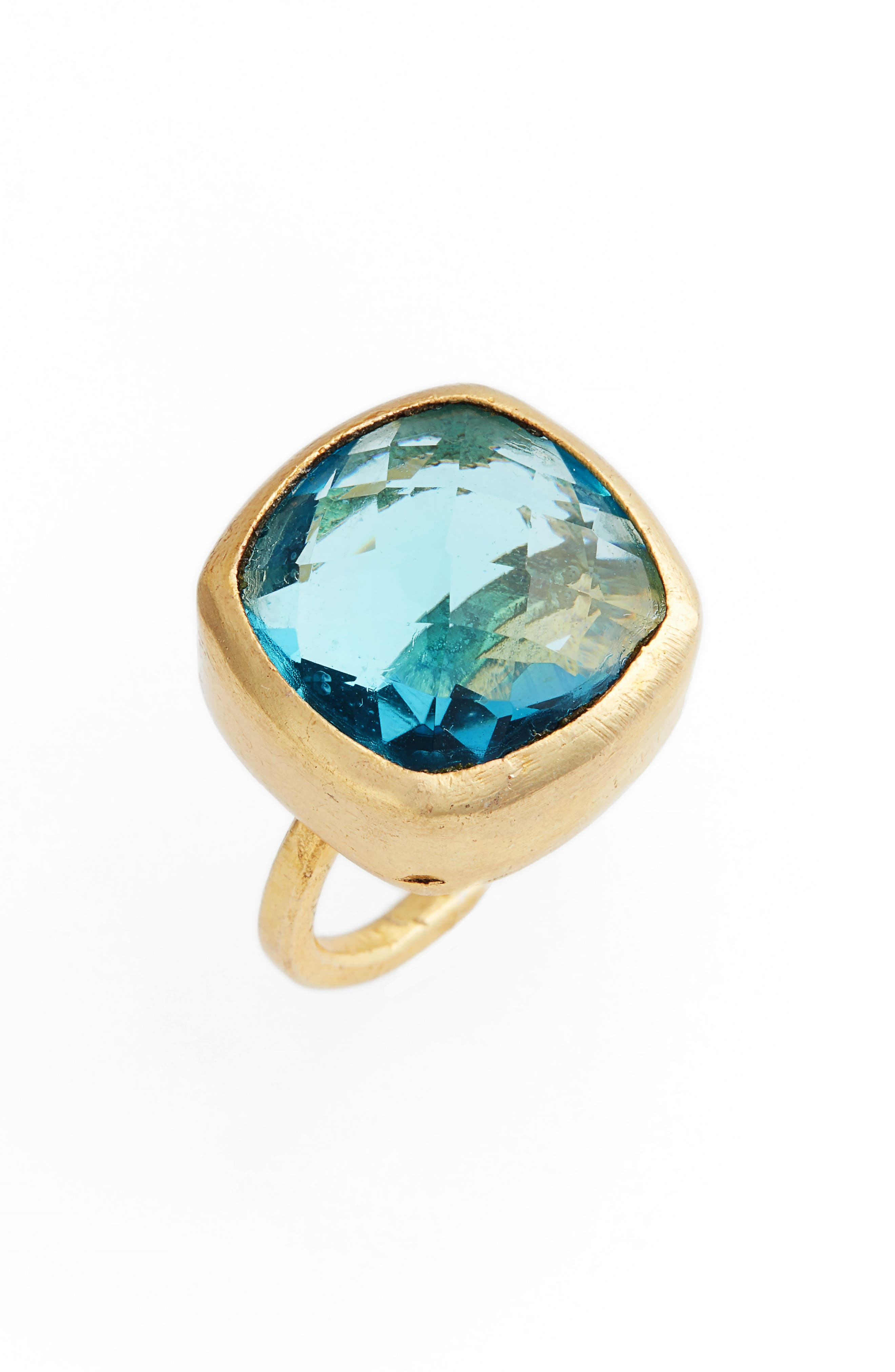 Amelie Blue Topaz Ring,                             Main thumbnail 1, color,                             Gold/ Topaz