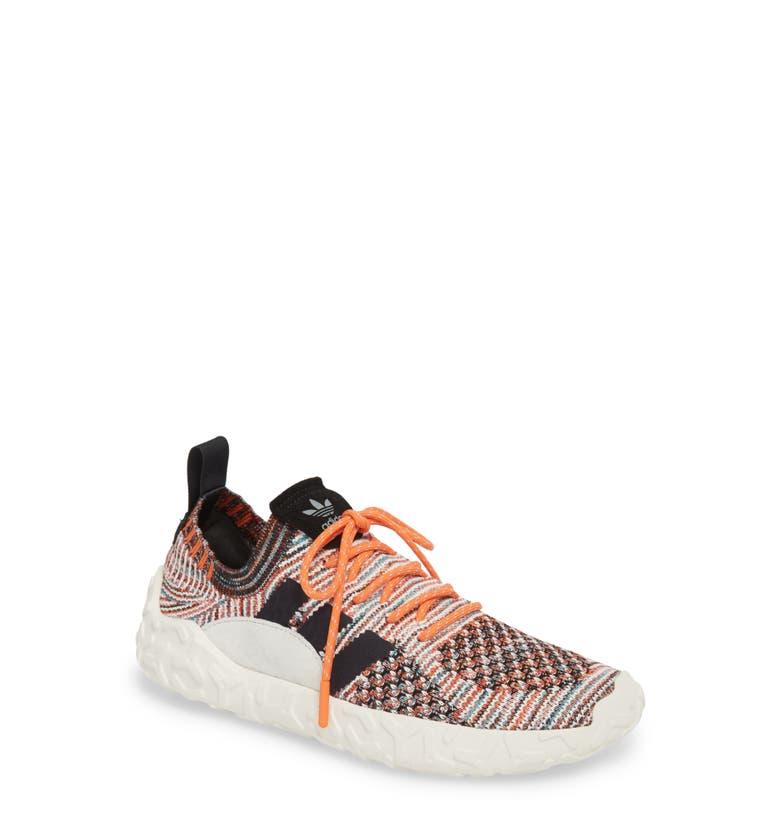 finest selection c7cd2 1d86c Adidas Originals F22 Suede-Trimmed Primeknit Sneakers - Orange