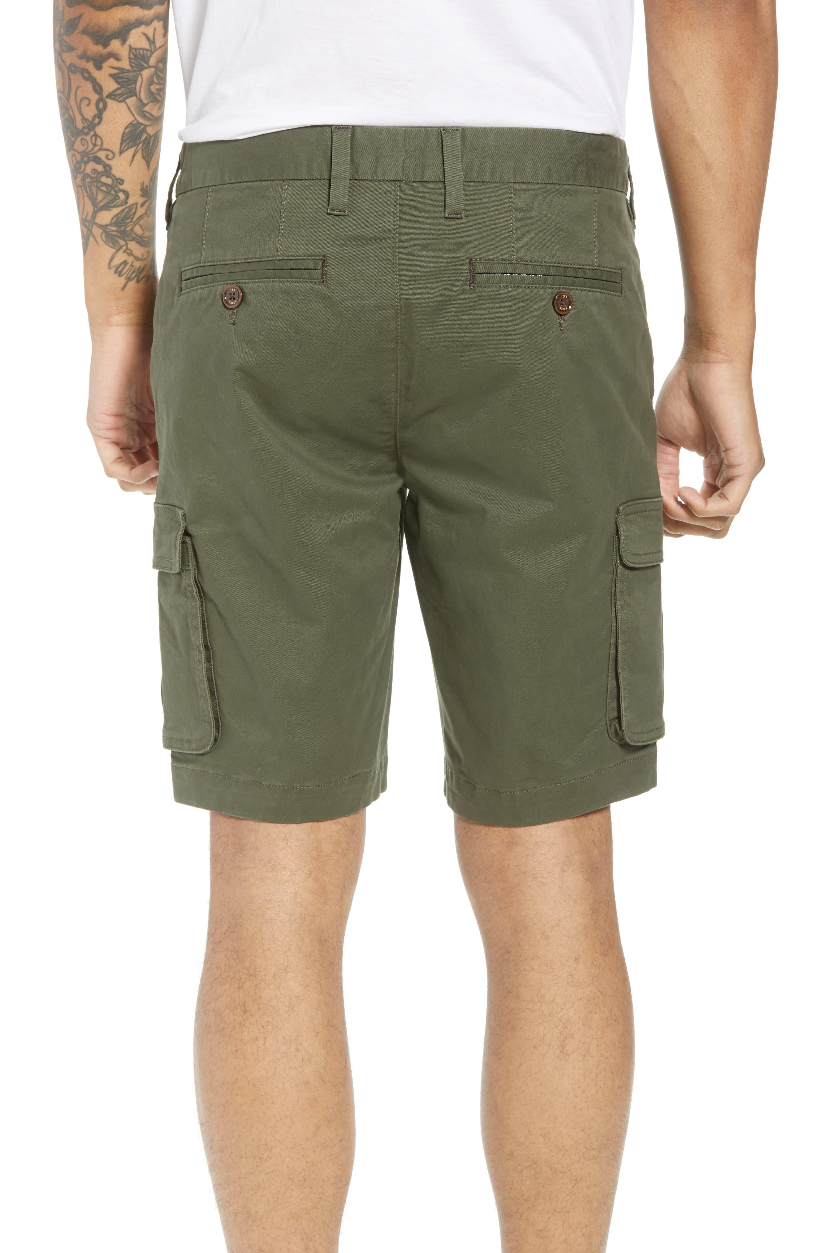 Ted Baker Cargogo Slim Fit Shorts,                             Alternate thumbnail 2, color,                             Khaki