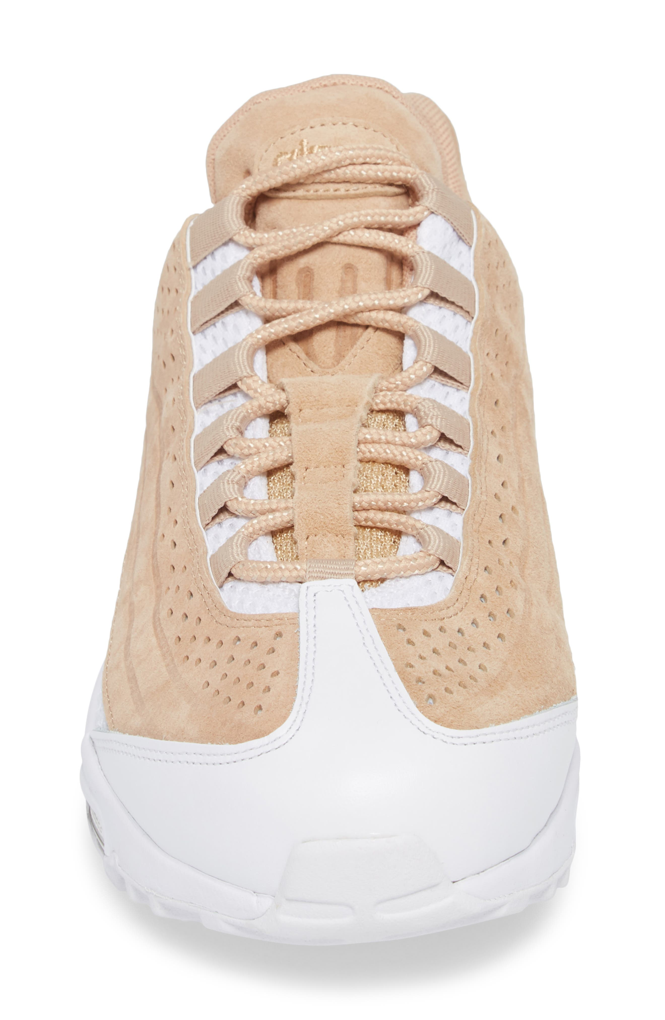 Air Max 95 Ultra Premium Sneaker,                             Alternate thumbnail 4, color,                             Vachetta Tan/ White