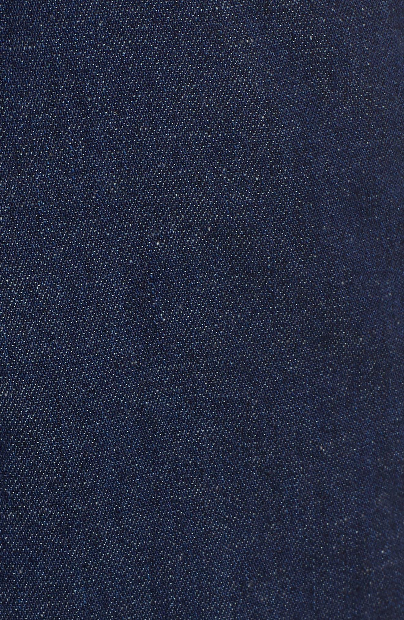 Etta High Waist Crop Wide Leg Jeans,                             Alternate thumbnail 5, color,                             Midnight Surge