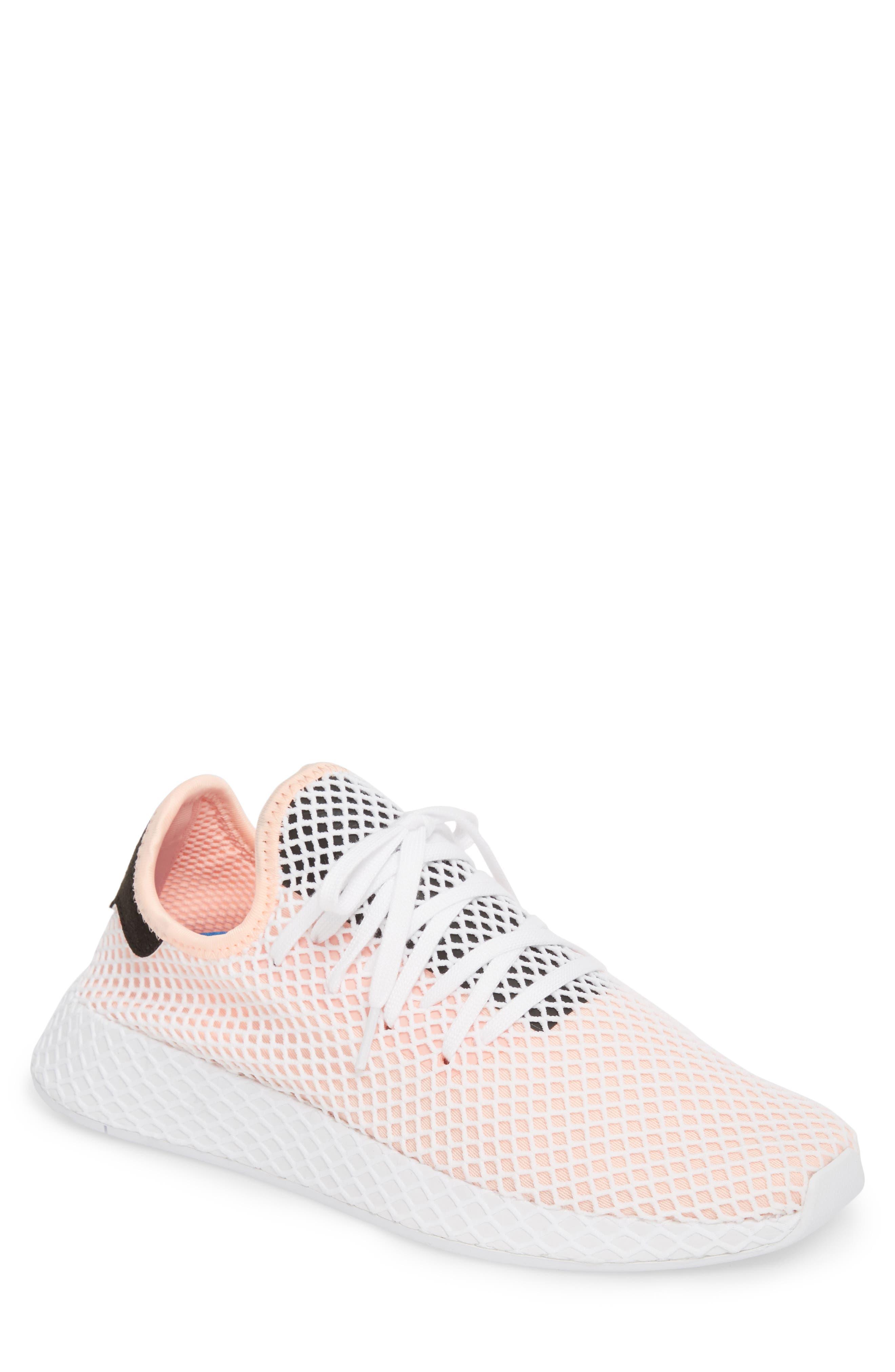 Deerupt Runner Sneaker,                             Main thumbnail 1, color,                             Black/ Black/ White