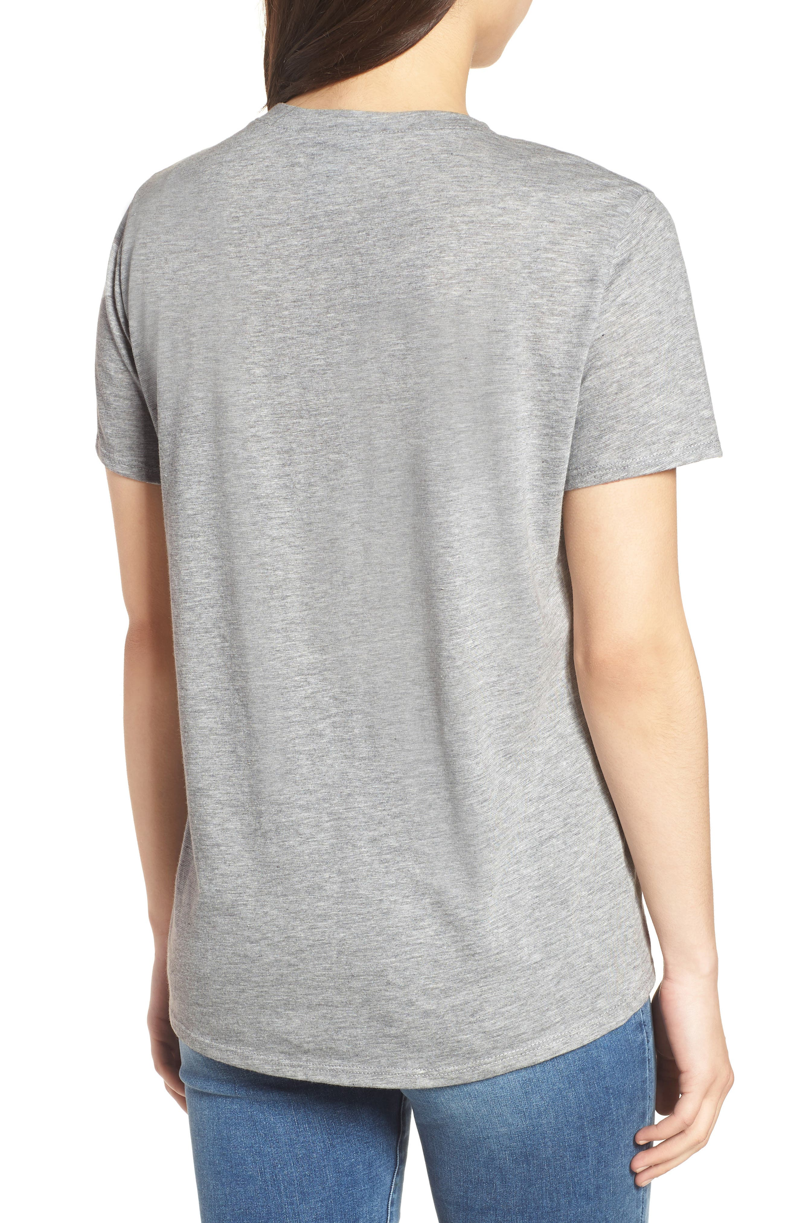 Off Duty Graphic Tee,                             Alternate thumbnail 2, color,                             Grey Heather