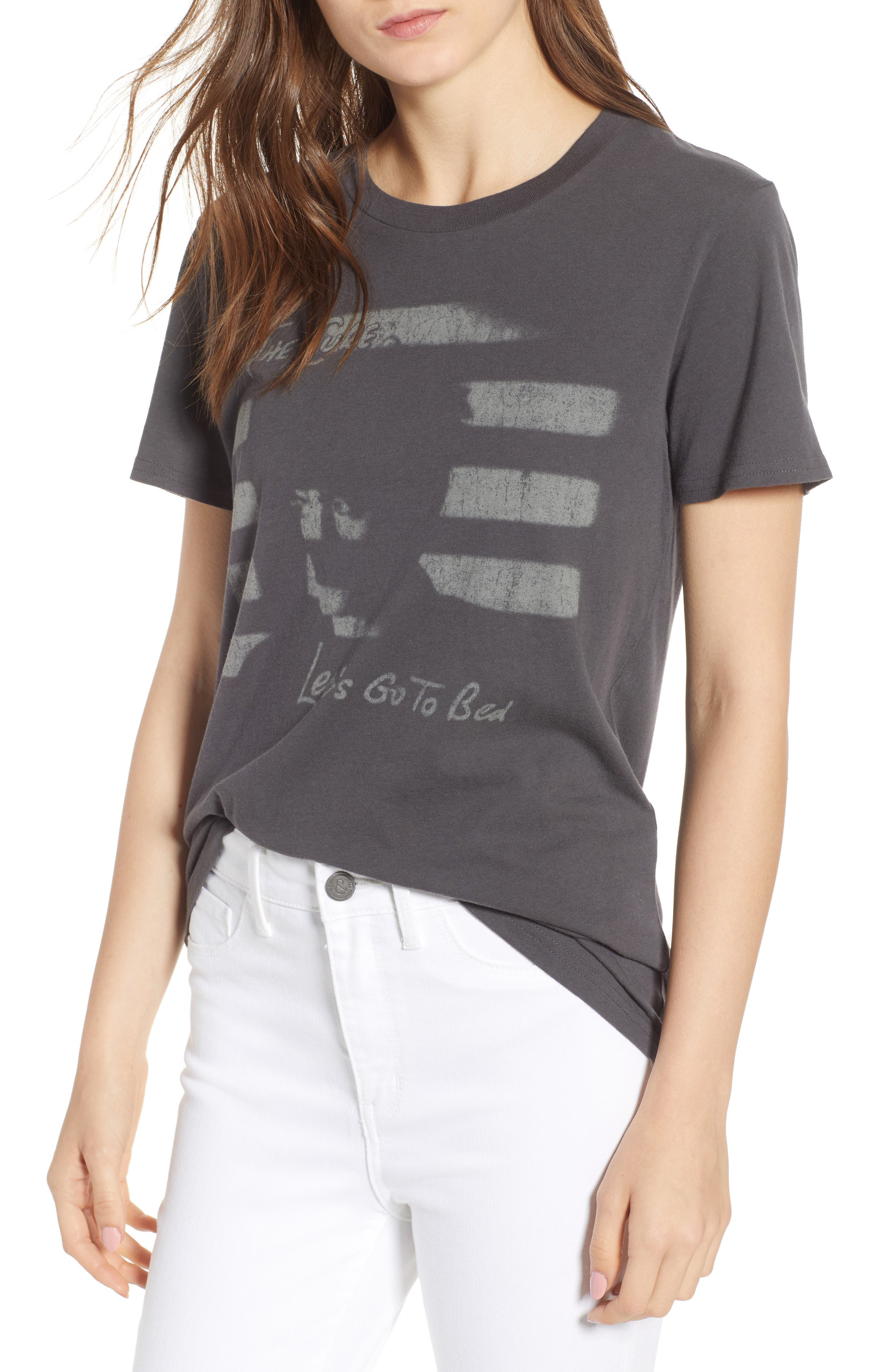The Cure Graphic Tee,                             Main thumbnail 1, color,                             Grey Onyx