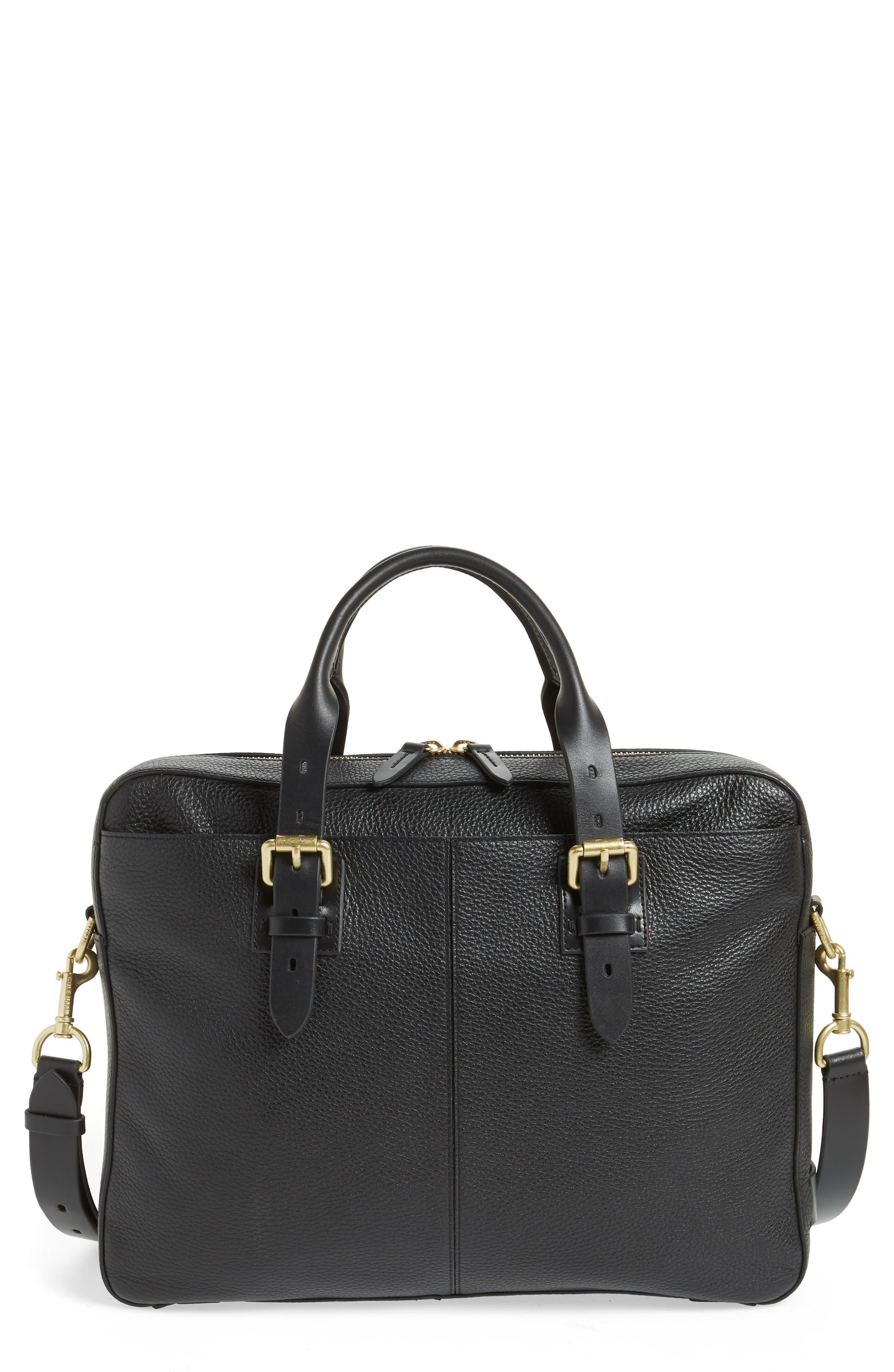 Cole Haan Brayton Leather Attaché Briefcase