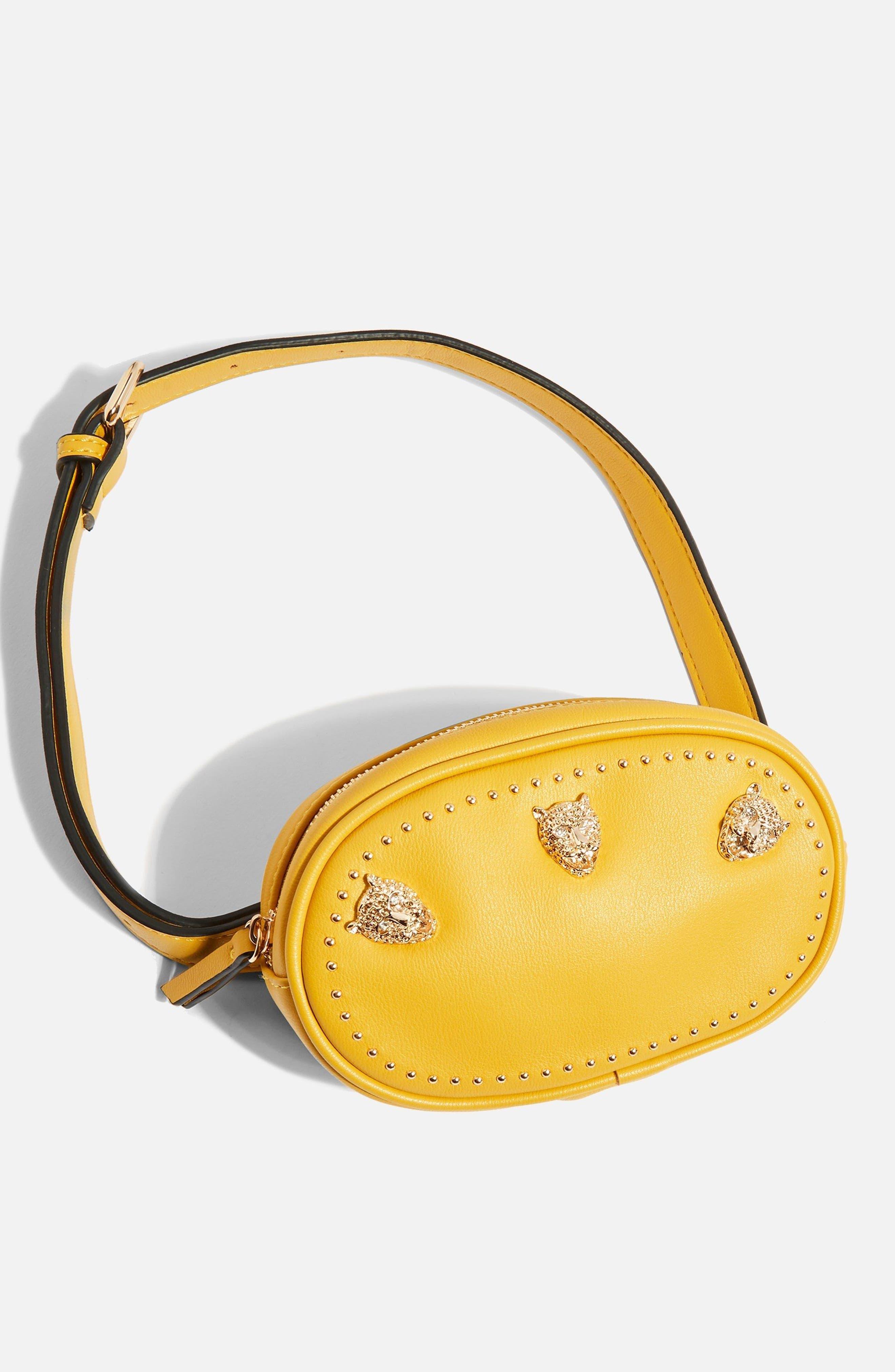 Panther Bum Bag,                             Alternate thumbnail 4, color,                             Yellow