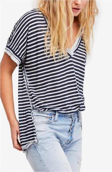 Main Image - Free People Take Me Stripe Tee