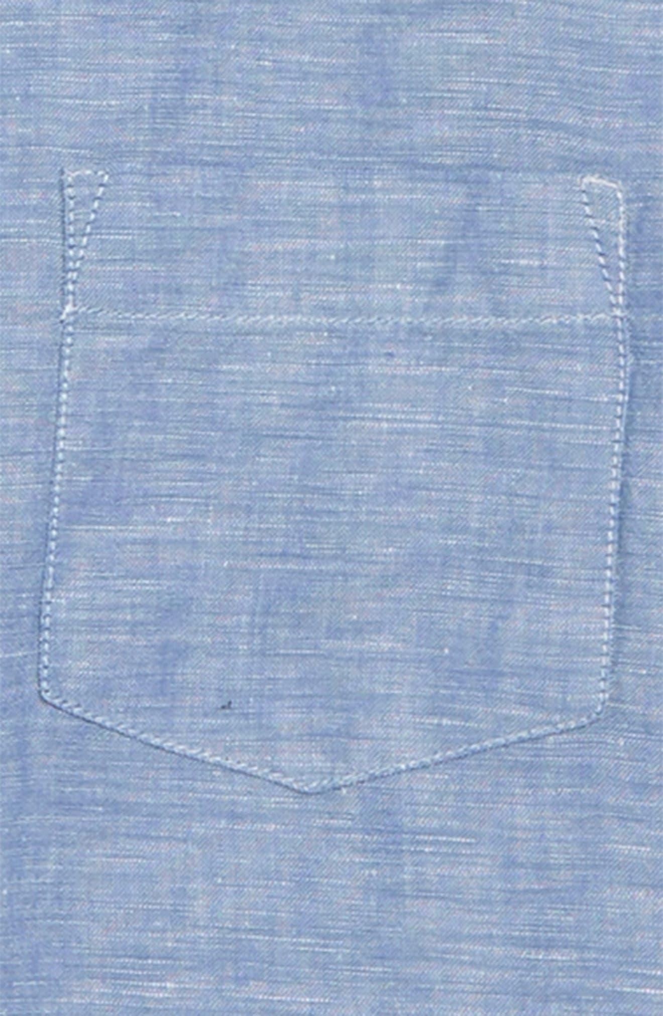 Linen & Cotton Shirt,                             Alternate thumbnail 2, color,                             Mediterranean Coast
