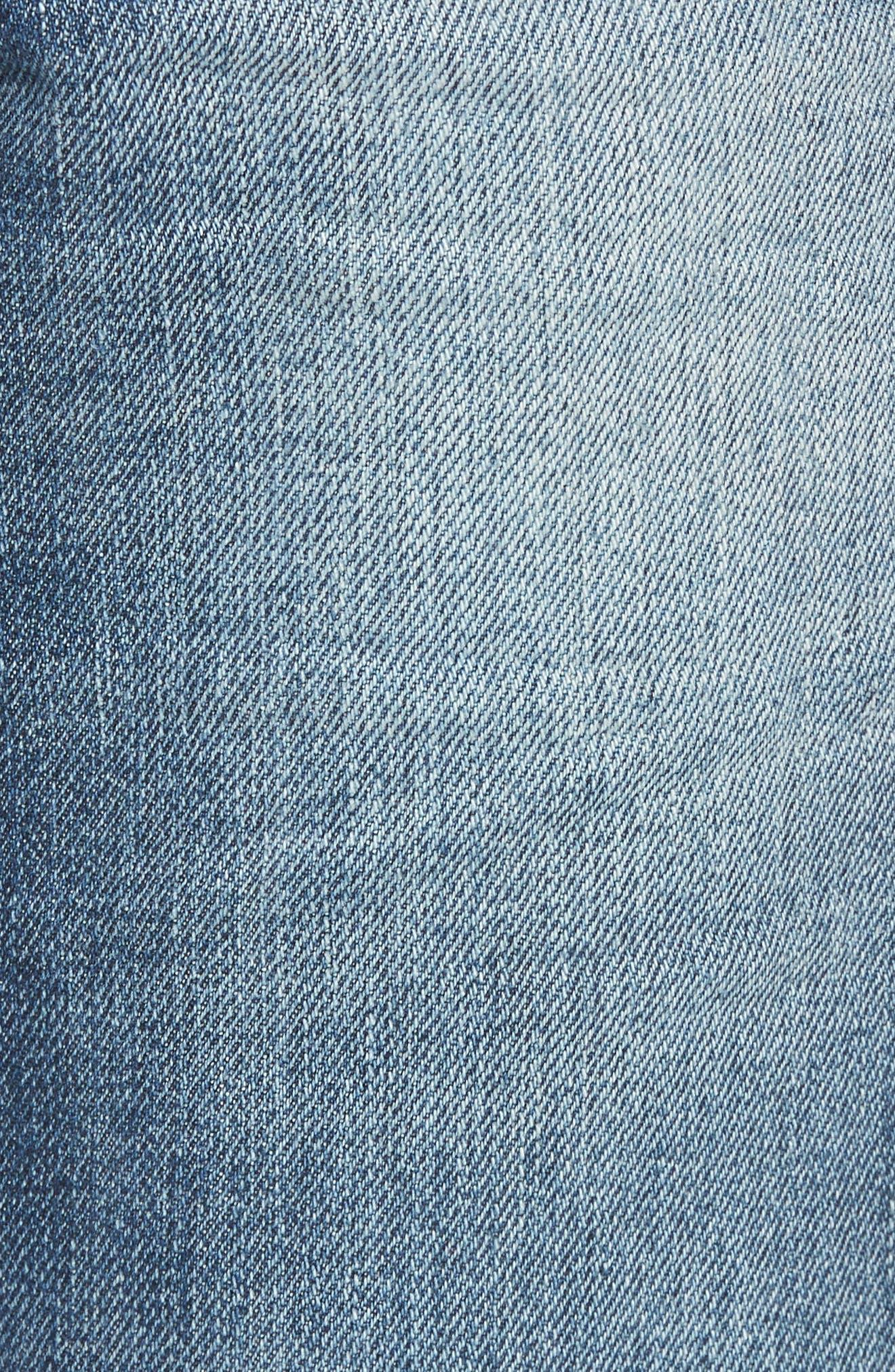 Geno Straight Leg Jeans,                             Alternate thumbnail 5, color,                             Worn Suspect