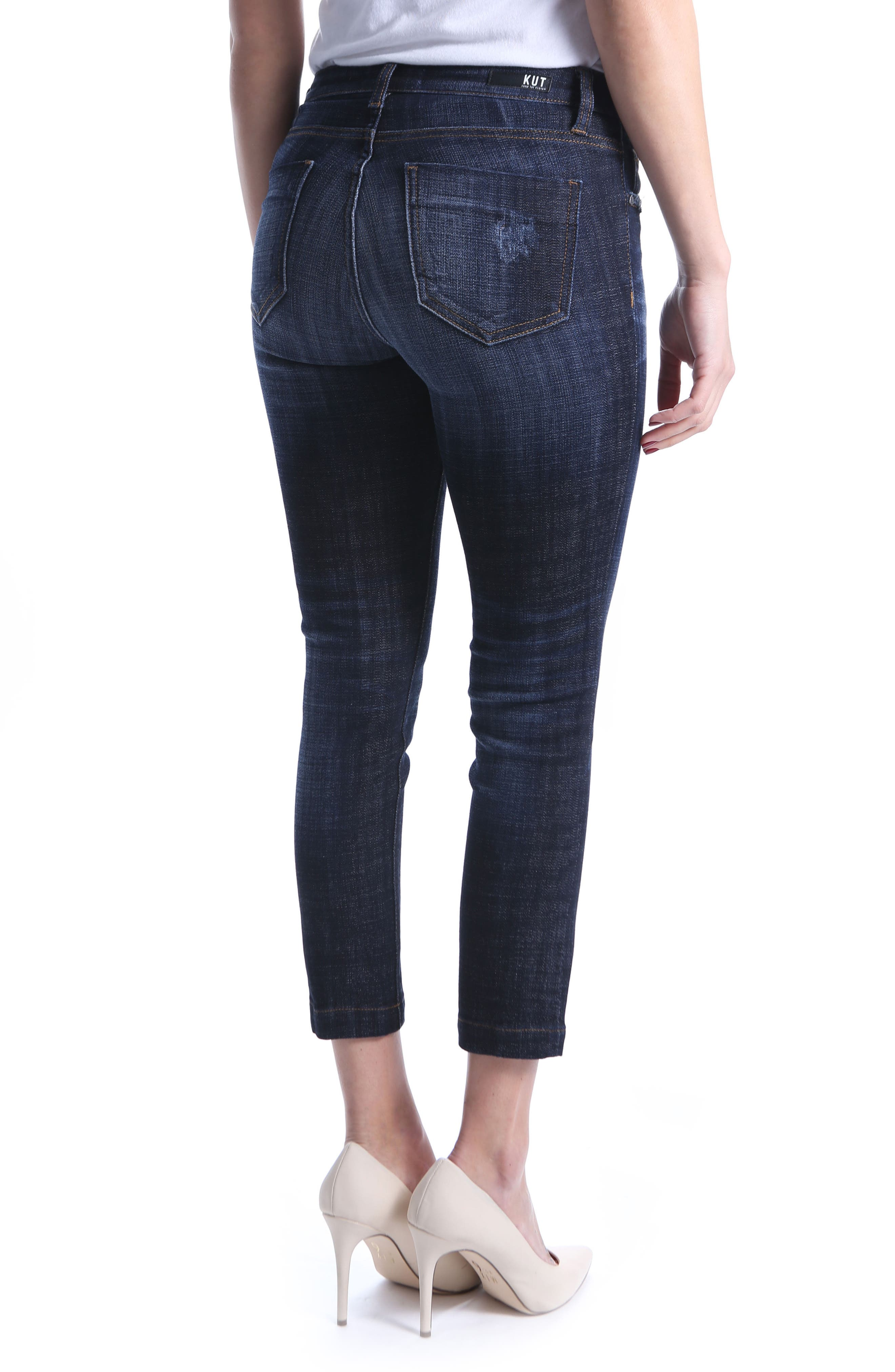 KUT from the Kloth Lauren Crop Straight Leg Jeans,                             Alternate thumbnail 2, color,                             Cultivated