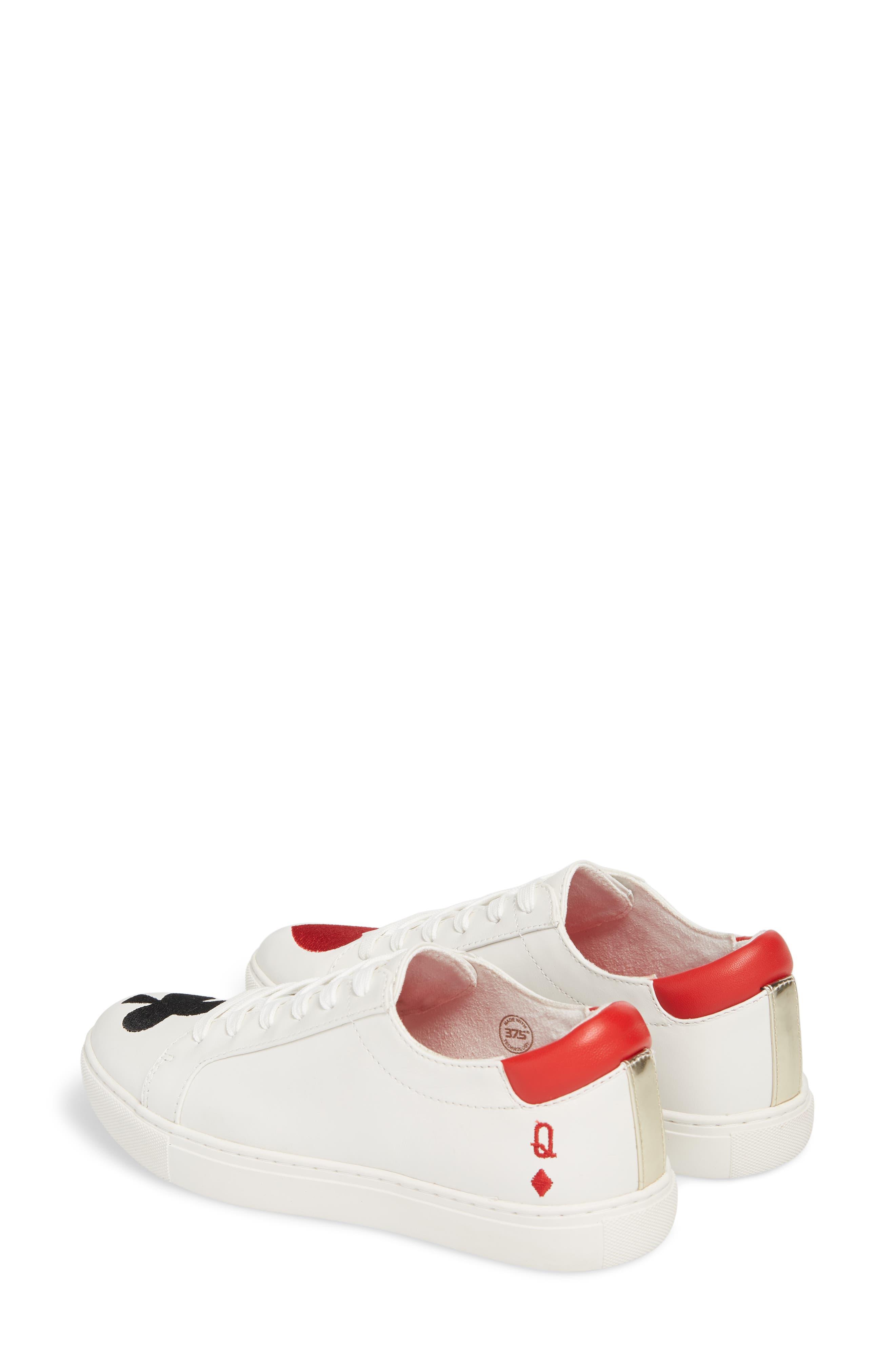 'Kam' Sneaker,                             Alternate thumbnail 3, color,                             White Red Black Leather