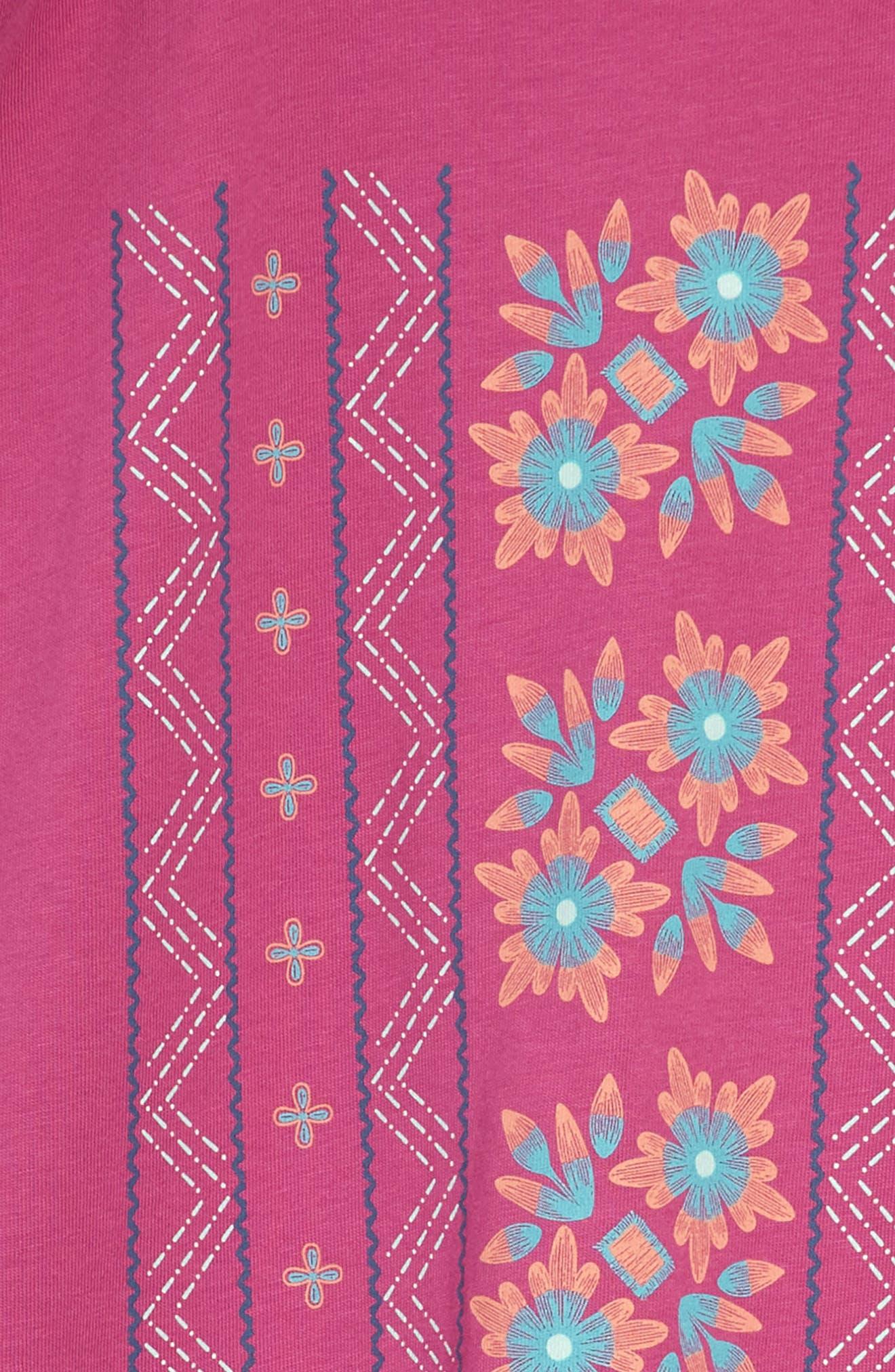 Floral Graphic Dress,                             Alternate thumbnail 3, color,                             Snapdragon