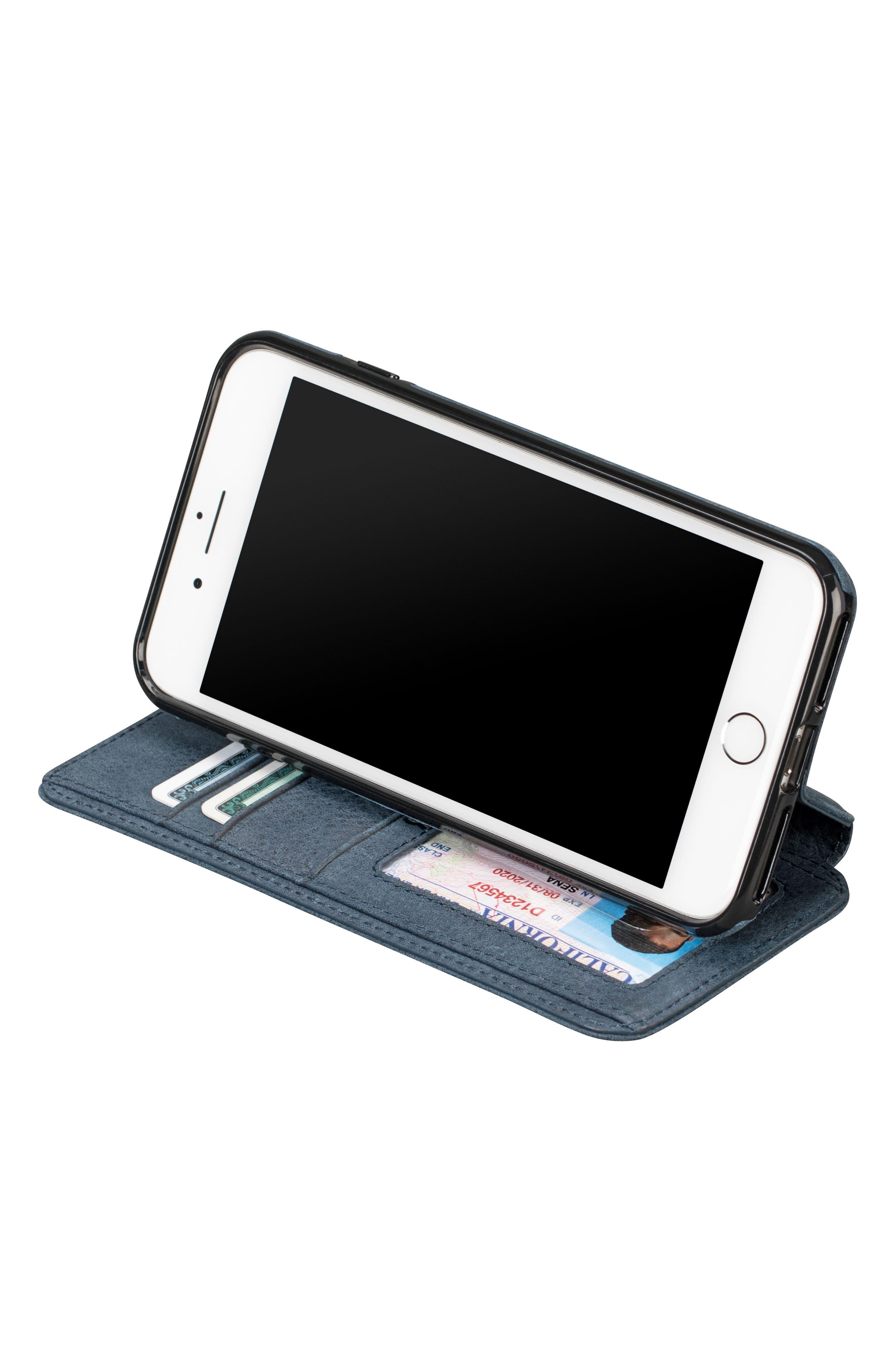 Bence iPhone 7/8 Plus Walletbook,                             Alternate thumbnail 3, color,                             Denim