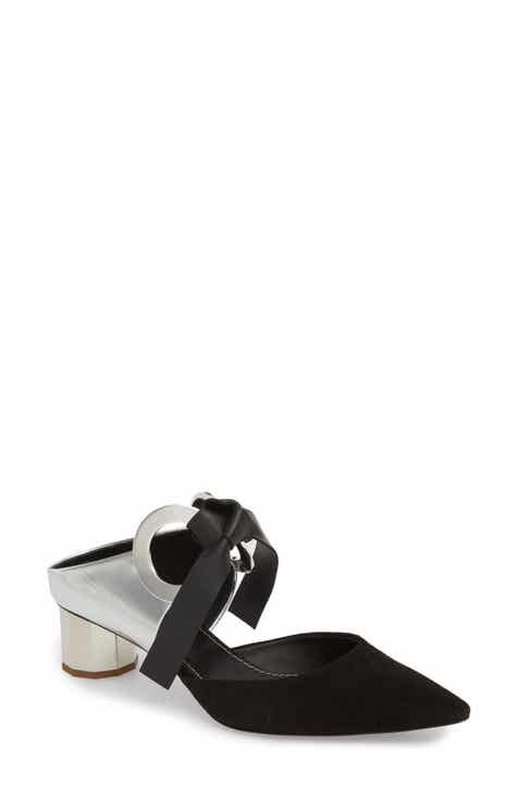a7a3010f4a73fb Proenza Schouler Grommet Pointy Toe Mule (Women).  825.00. Product Image.  BLACK SUEDE  BLACK LEATHER