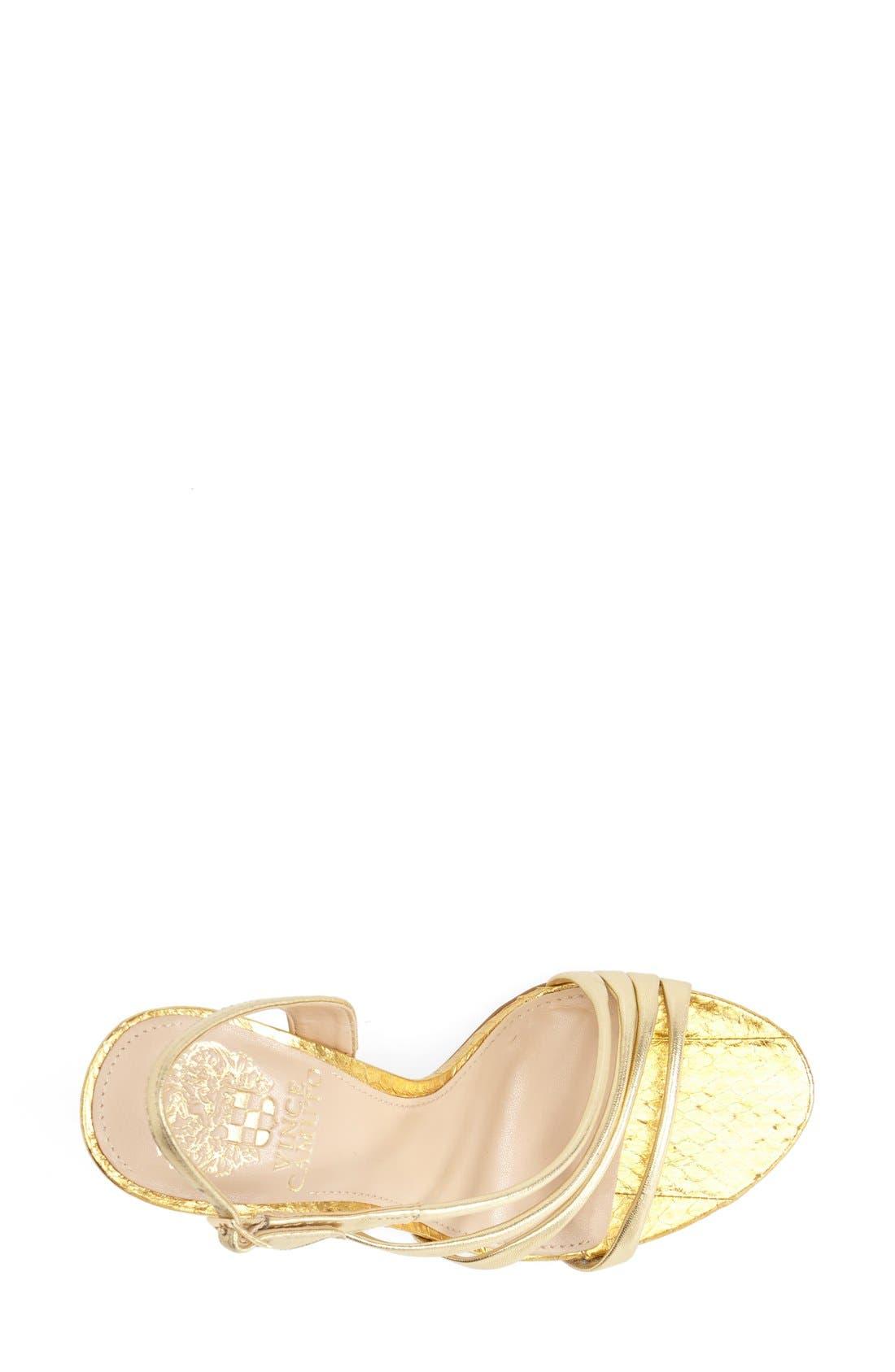 'Tiernan' Strappy Leather Sandal,                             Alternate thumbnail 3, color,                             Gold