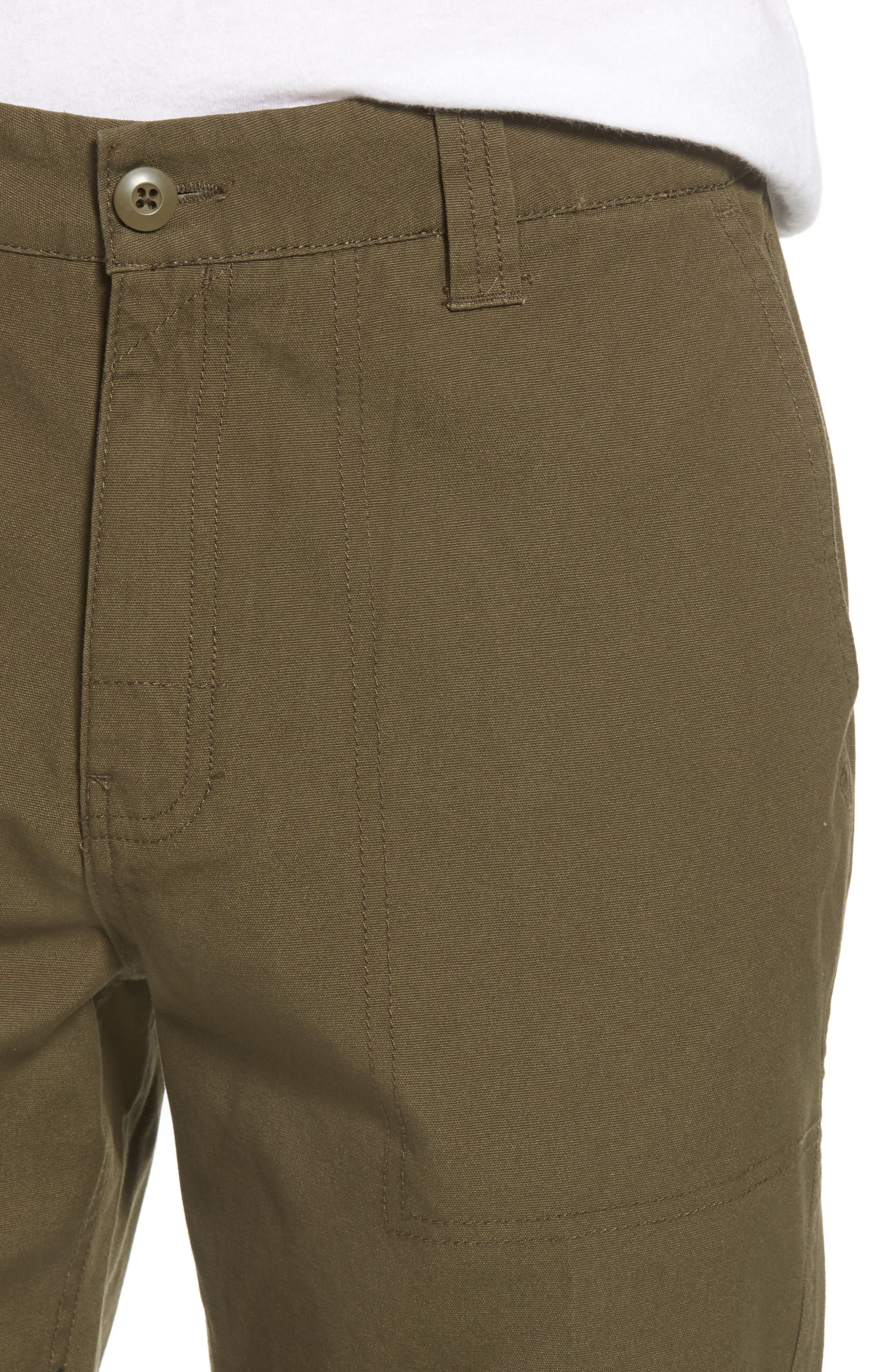 Collins Canvas Shorts,                             Alternate thumbnail 4, color,                             Fatigue Green