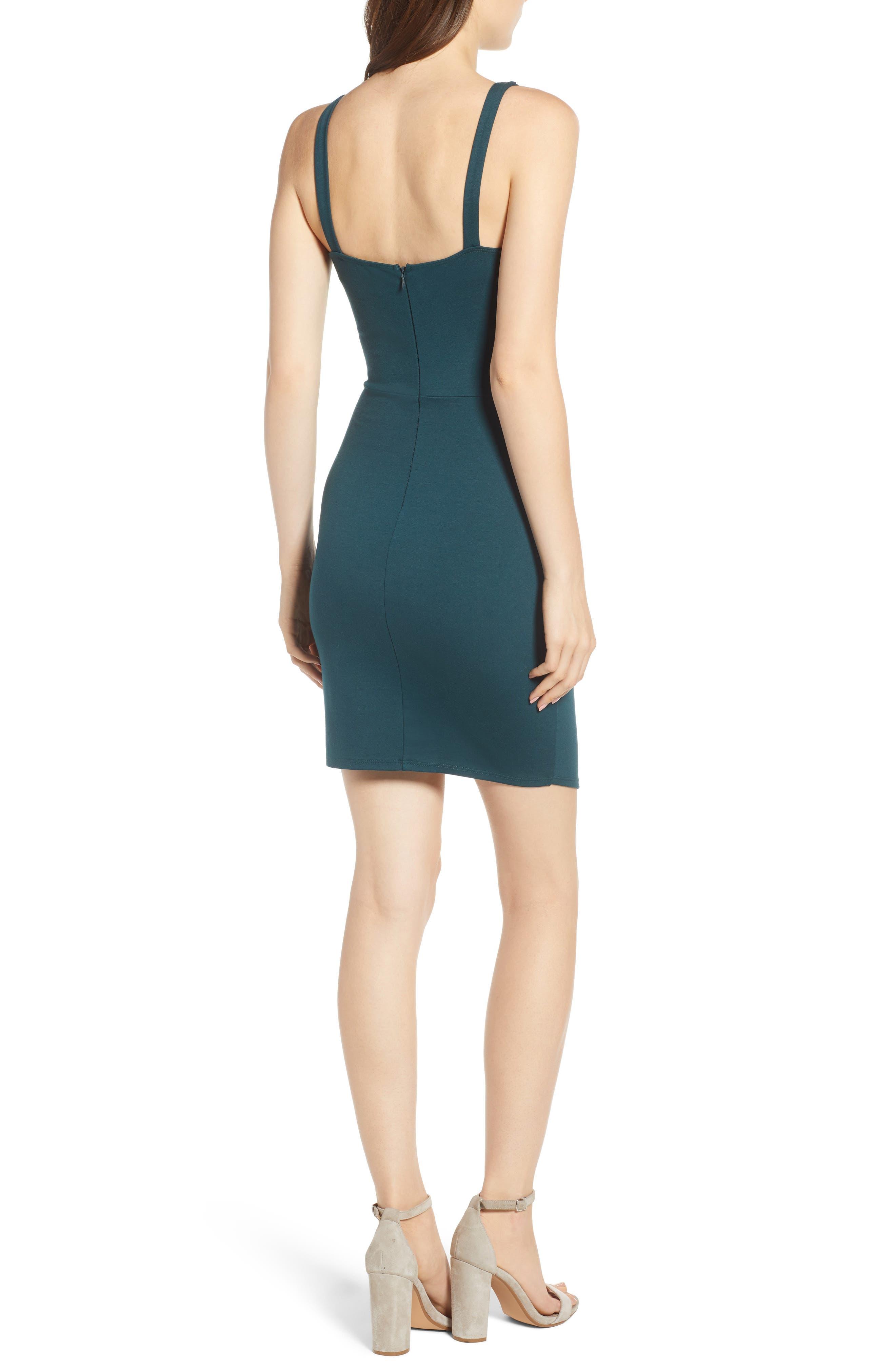 Body-Con Dress,                             Alternate thumbnail 2, color,                             Green Bug