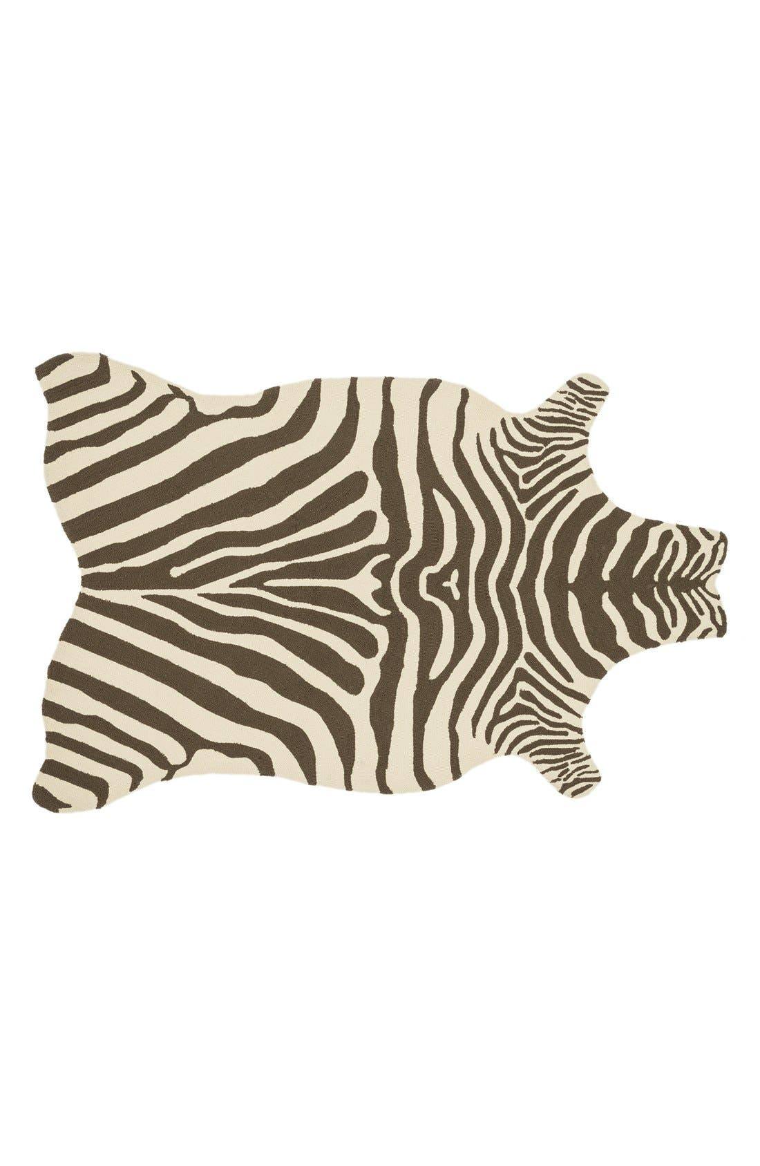 Alternate Image 1 Selected - Loloi 'Zadie' Zebra Woven Indoor/Outdoor Rug