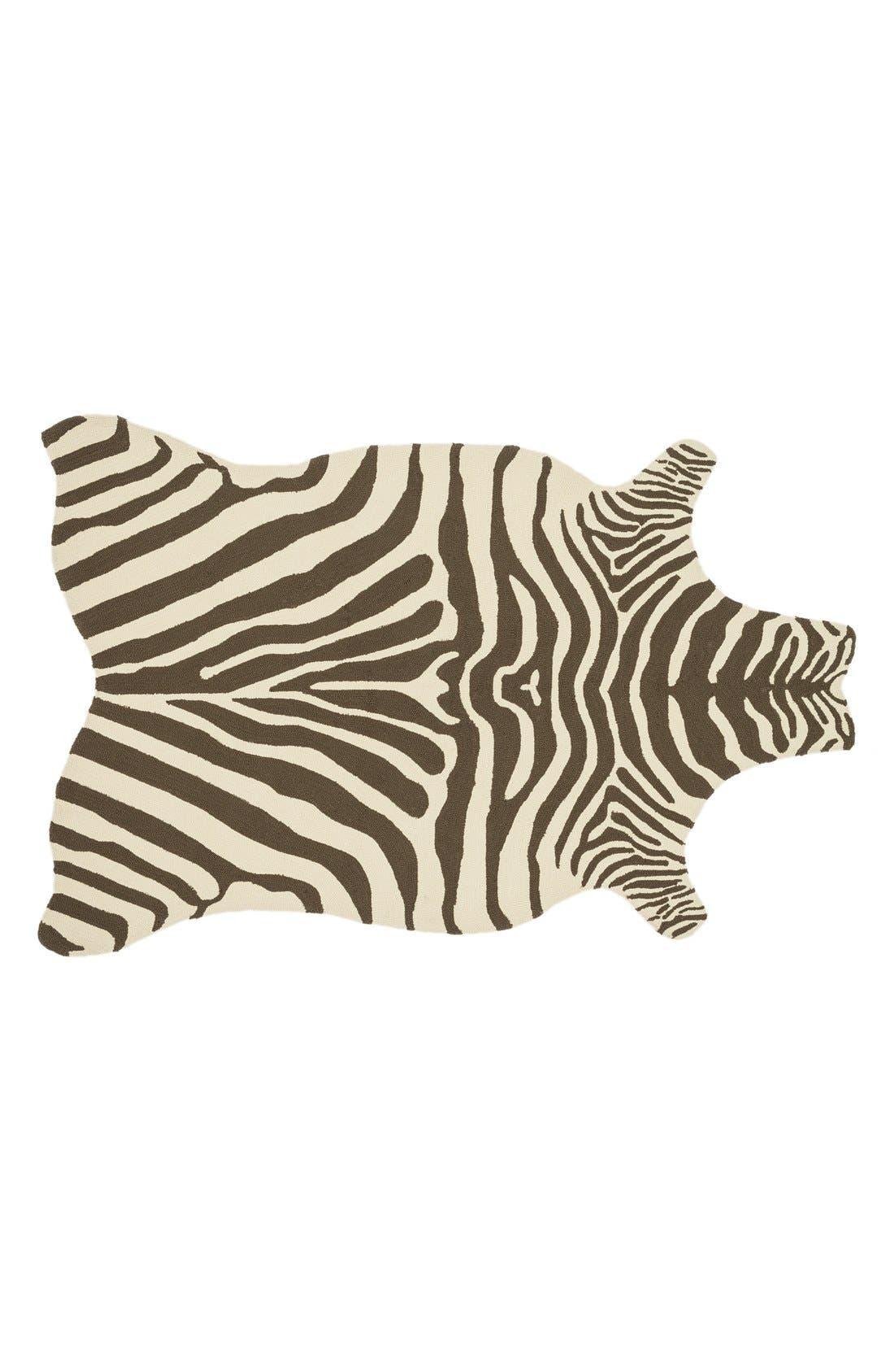 Main Image - Loloi 'Zadie' Zebra Woven Indoor/Outdoor Rug