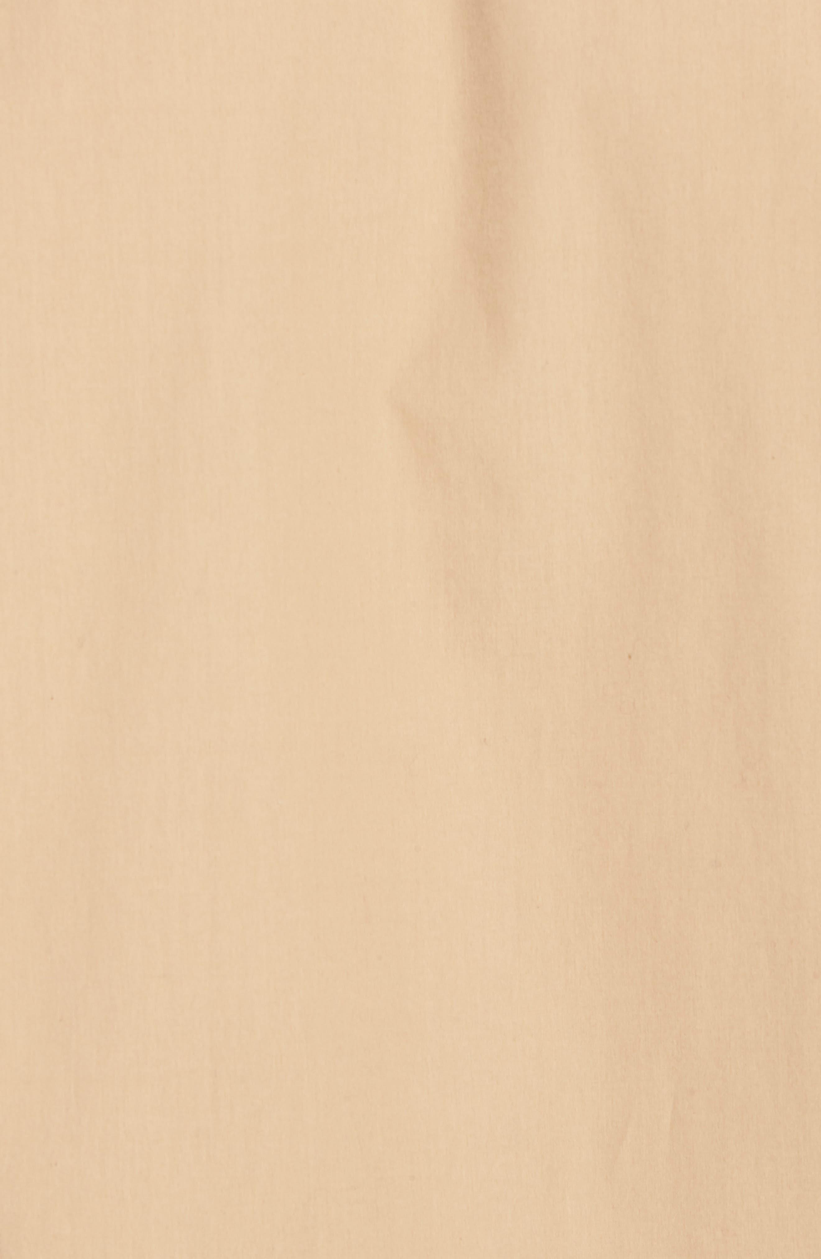Slim Fit Solid Short Sleeve Sport Shirt,                             Alternate thumbnail 5, color,                             Khaki