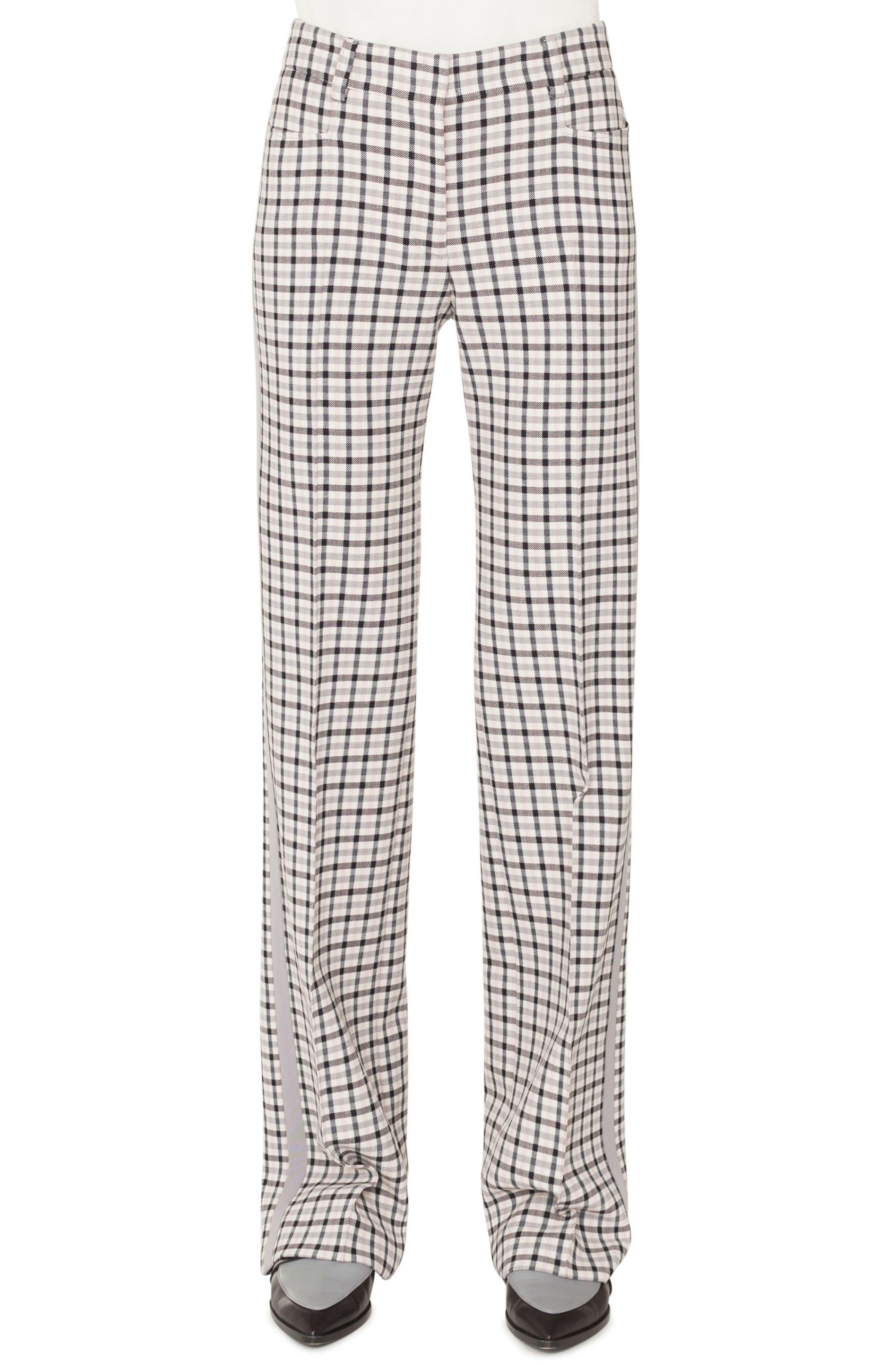 Akris punto Mikka Side Stripe Checked Trousers