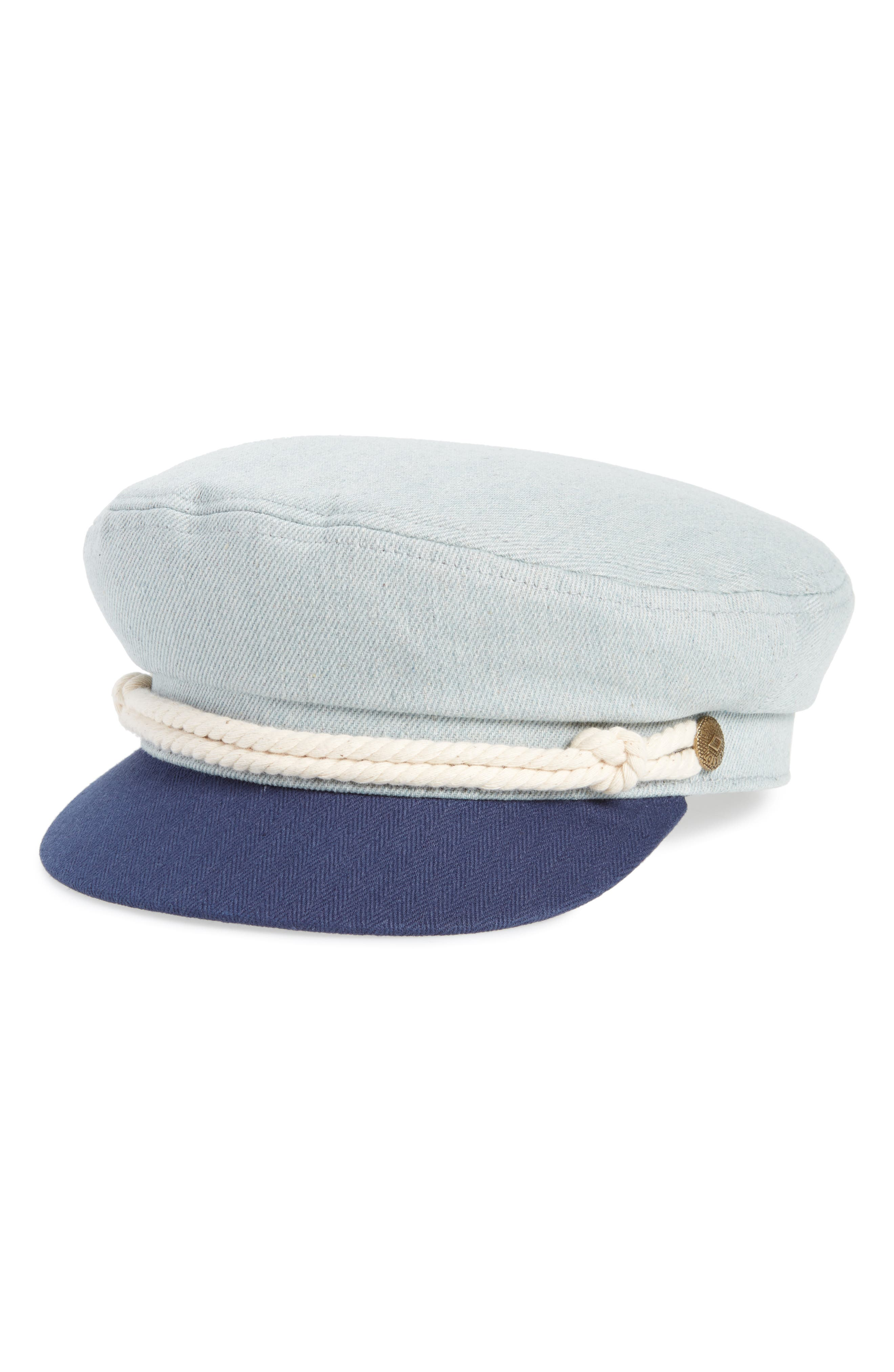 Fiddler Cap,                         Main,                         color, Light Denim/ Navy