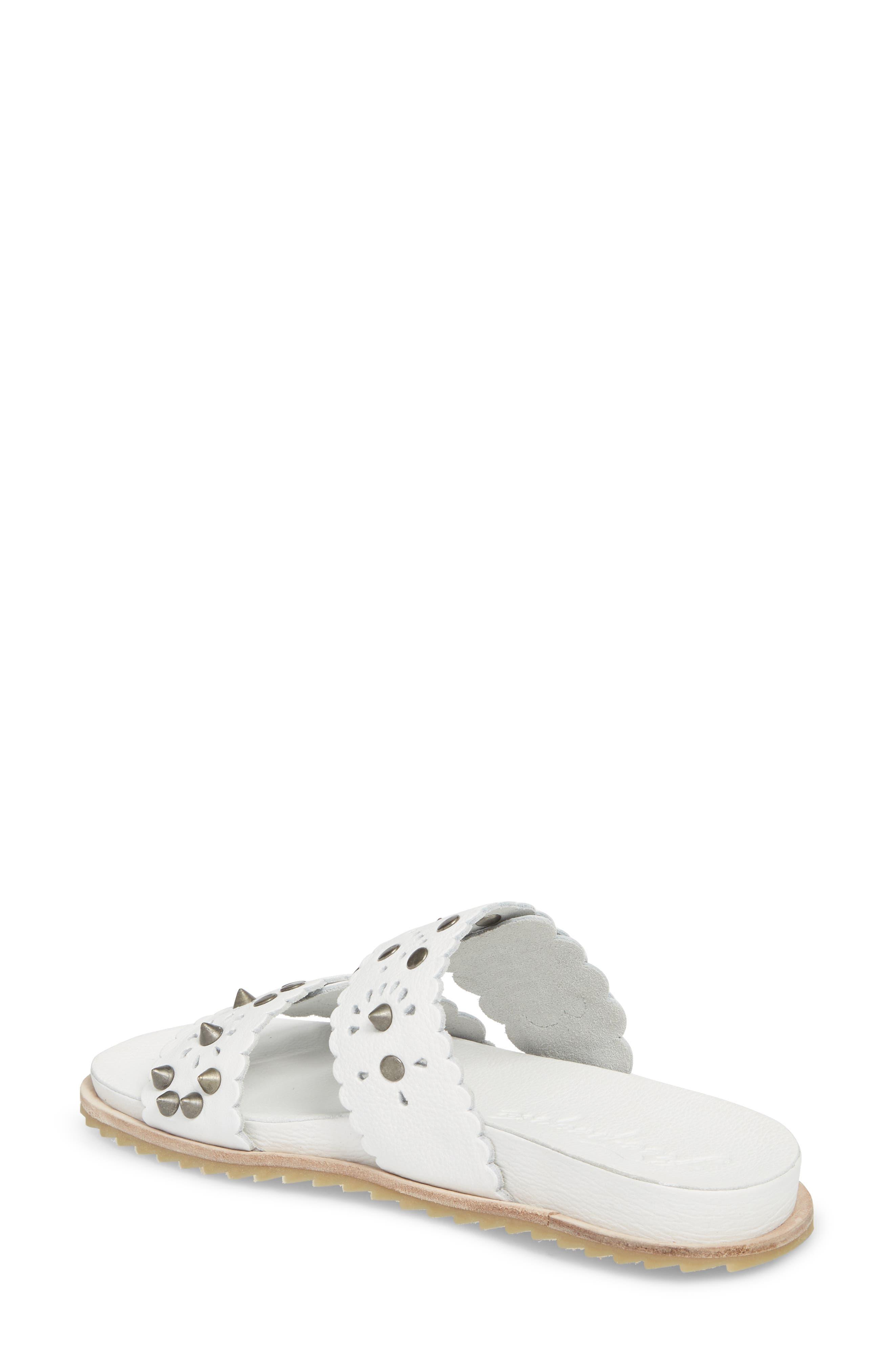 Spellbound Embellished Slide Sandal,                             Alternate thumbnail 2, color,                             White