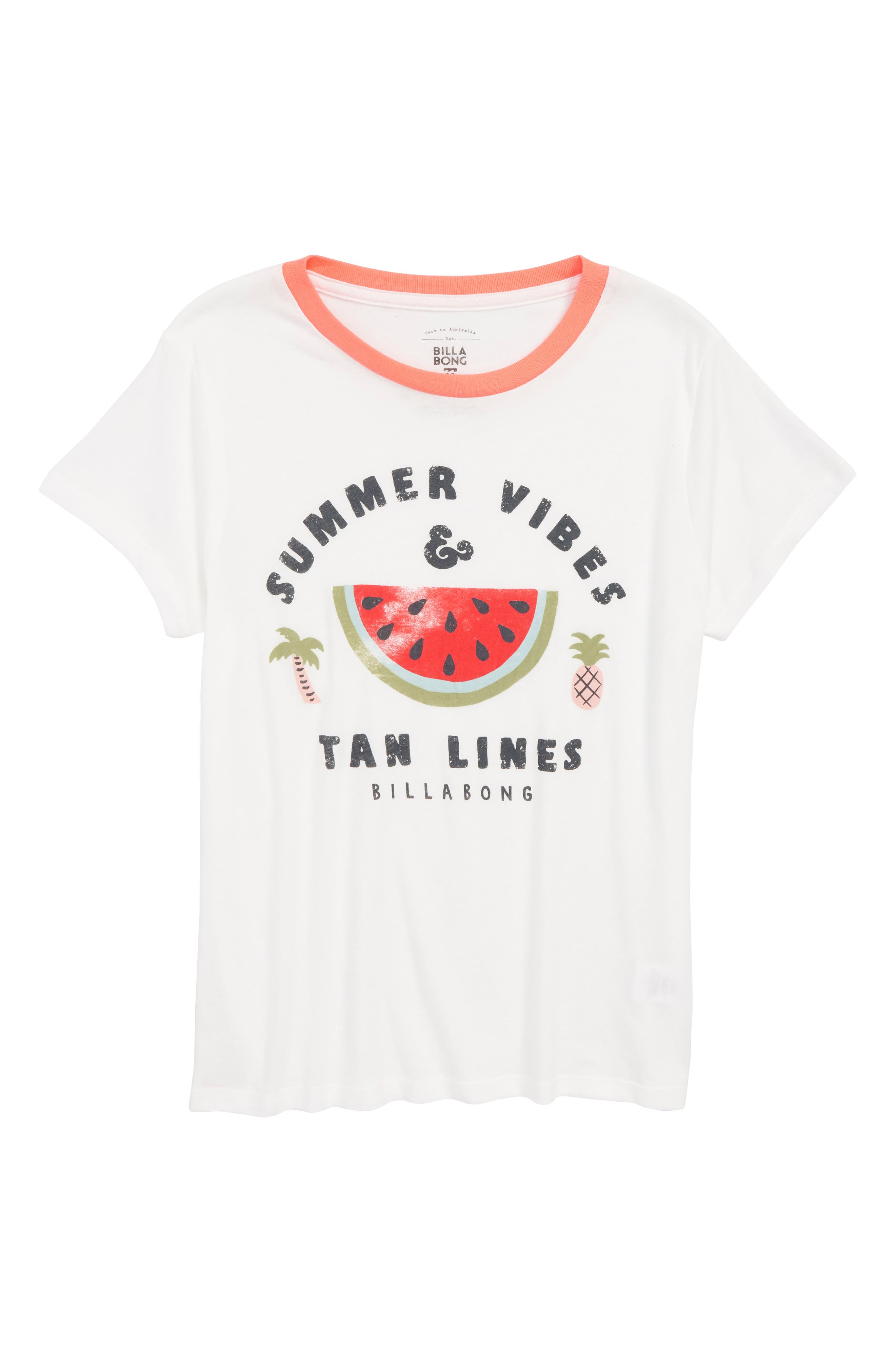Billabong Summer Vibes Graphic Tee (Little Girls & Big Girls)