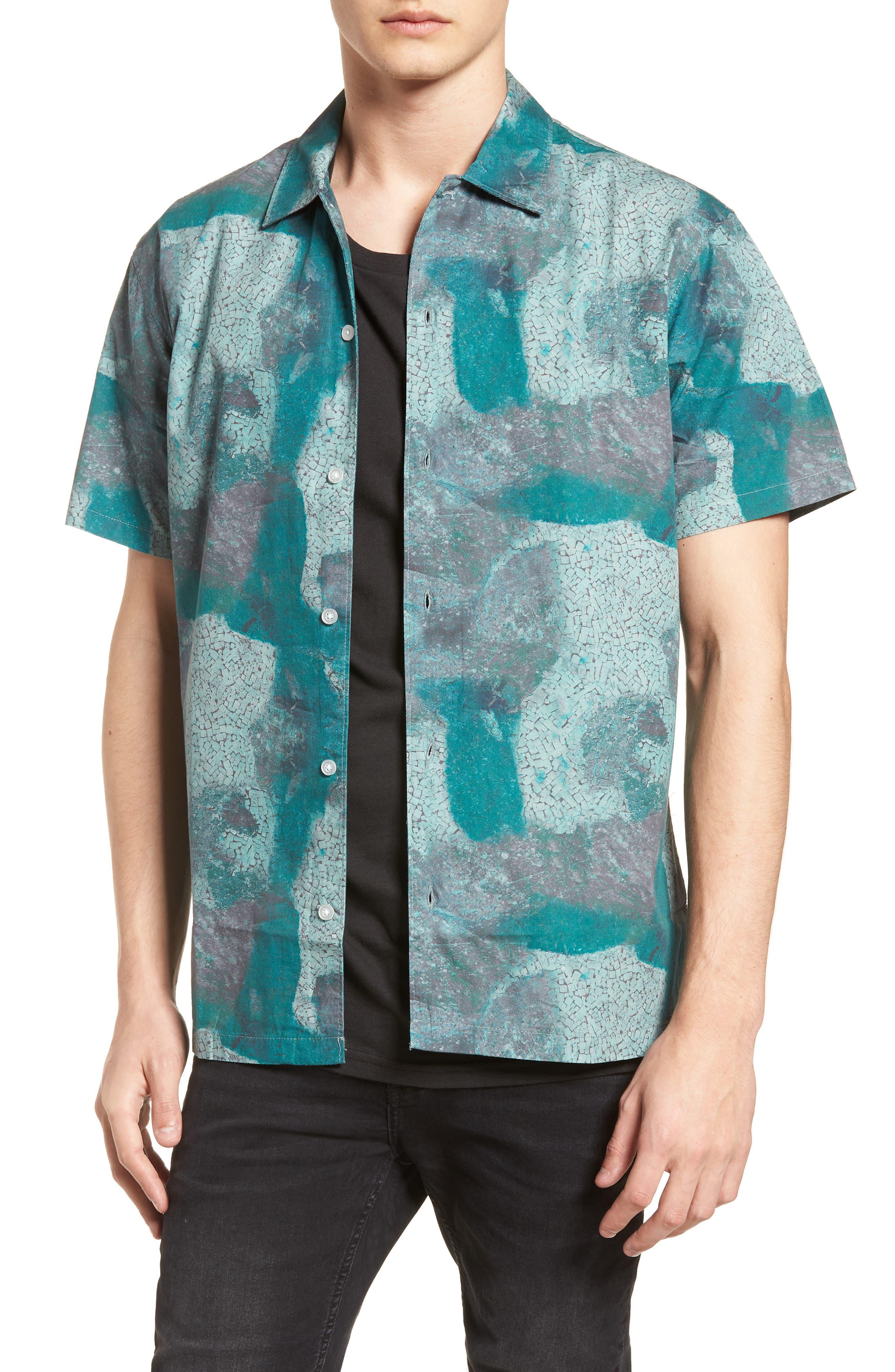 Villa Desert Woven Shirt,                         Main,                         color, Pacific Green Desert
