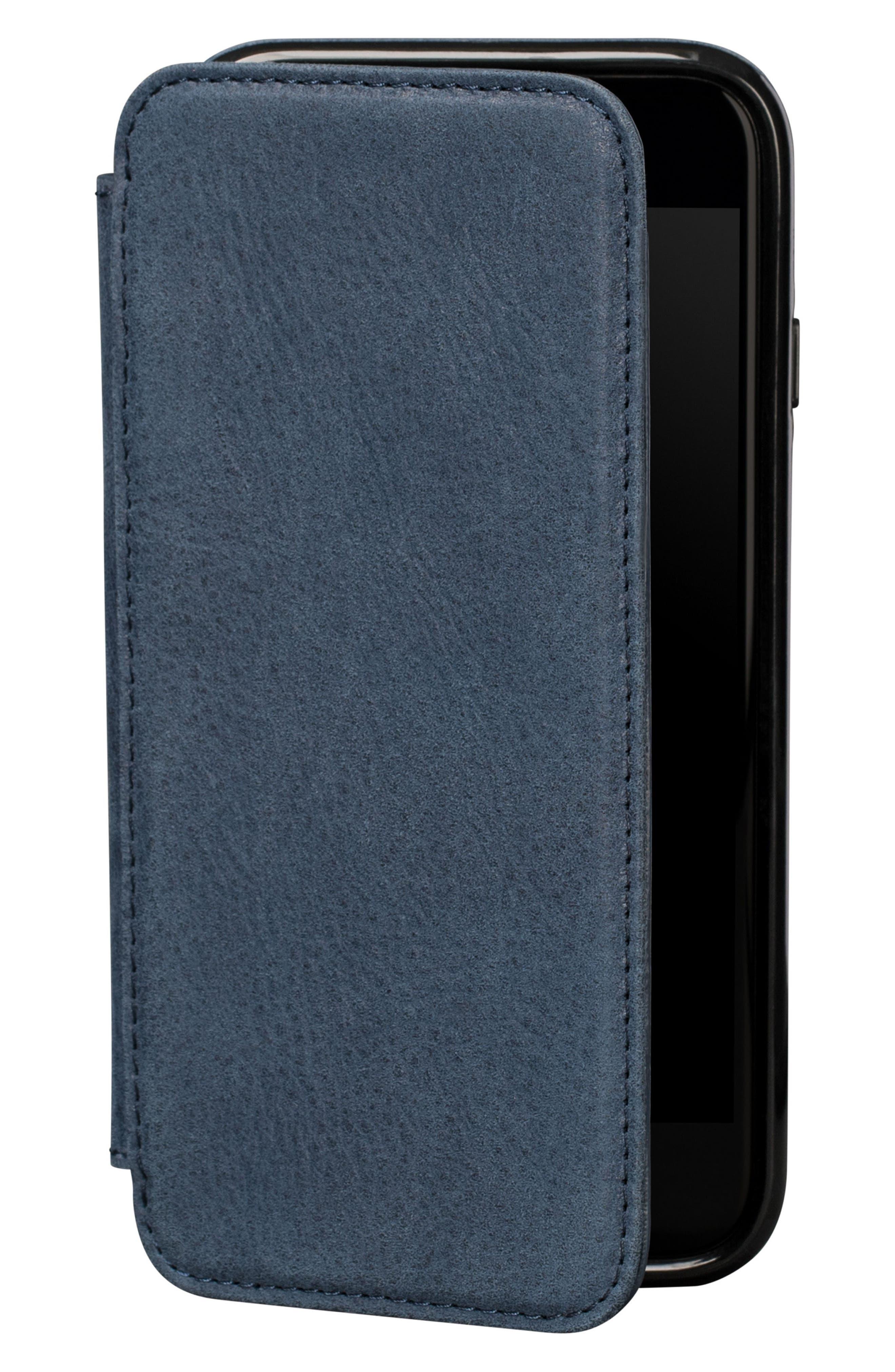 Bence iPhone 7/8 Walletbook,                             Main thumbnail 1, color,                             Denim