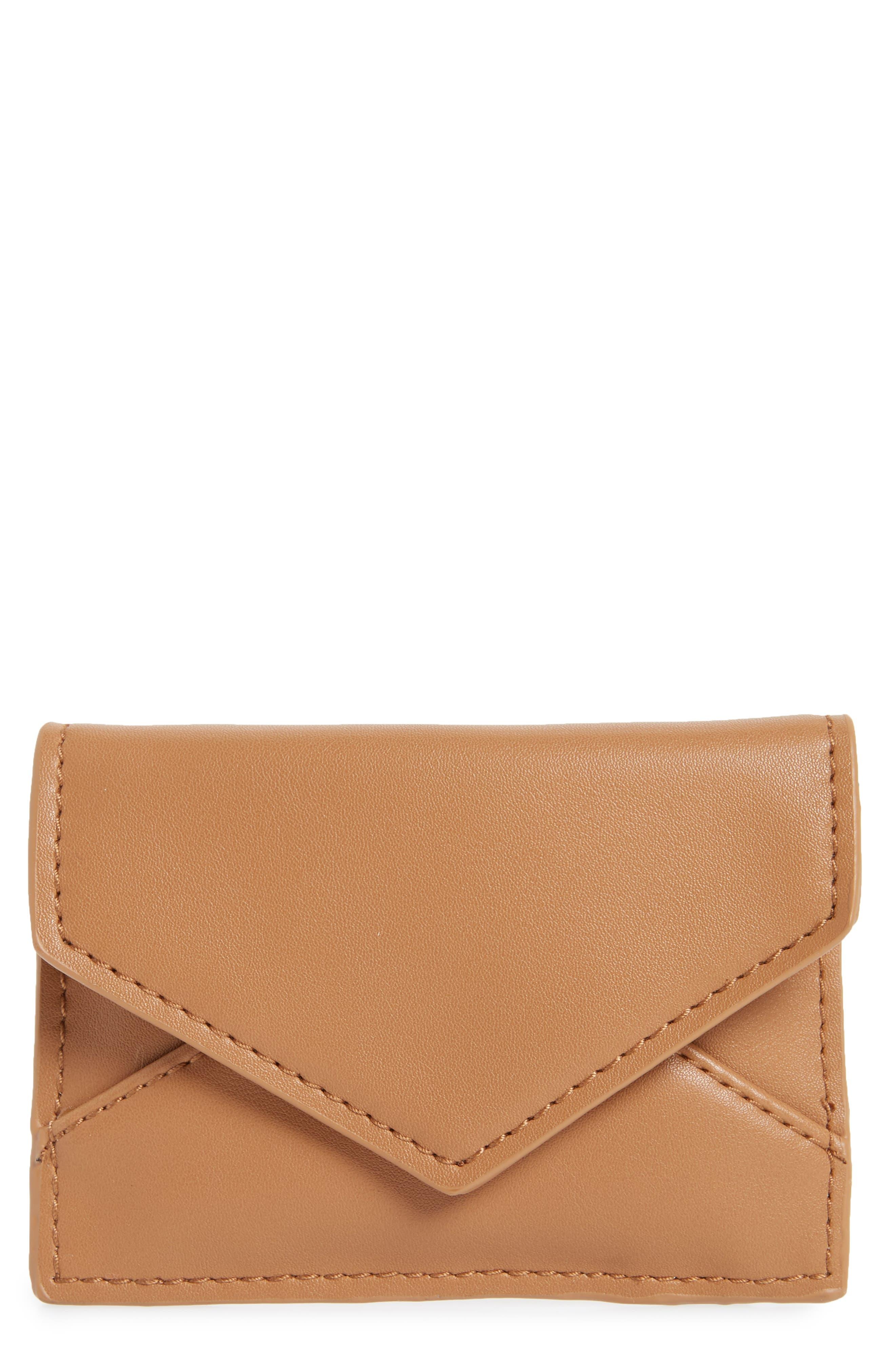 BP. Faux Leather Envelope Card Case