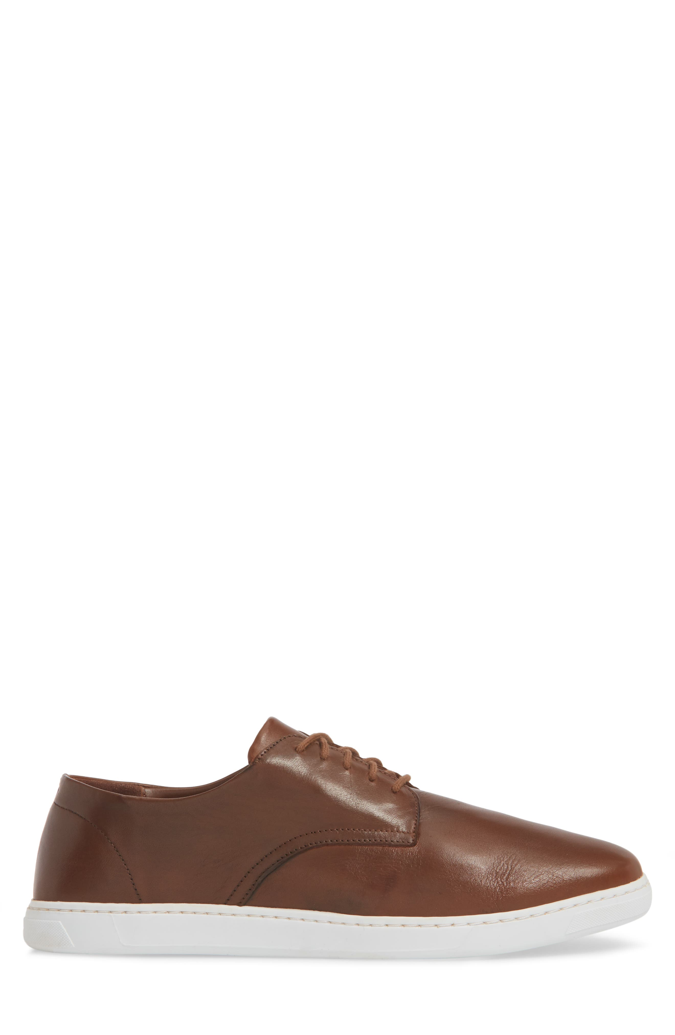 Nok Derby Sneaker,                             Alternate thumbnail 3, color,                             Brown Leather